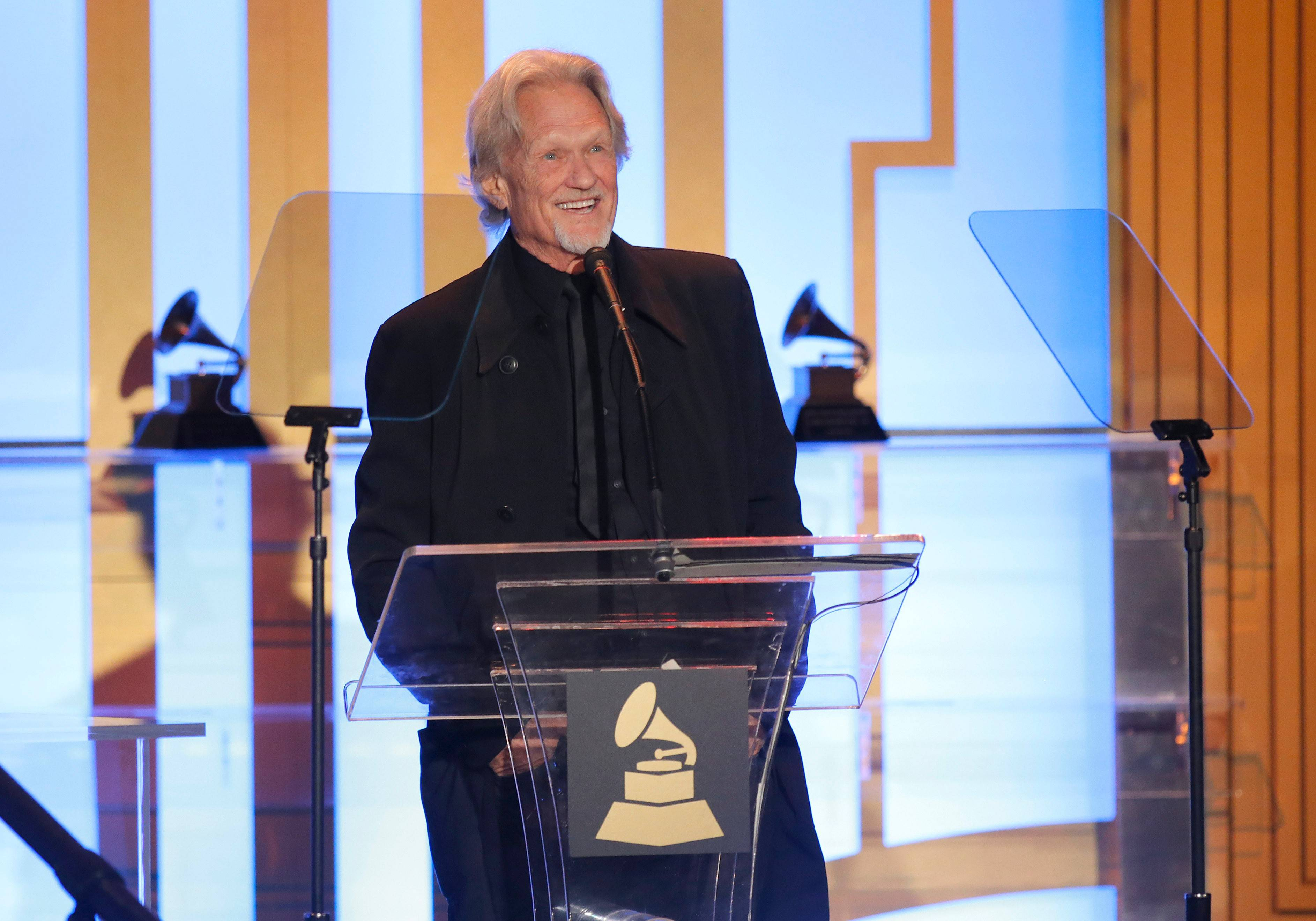 Kris Kristofferson received a lifetime achievement Grammy Award last month. Now 77, he's still making music and movies.