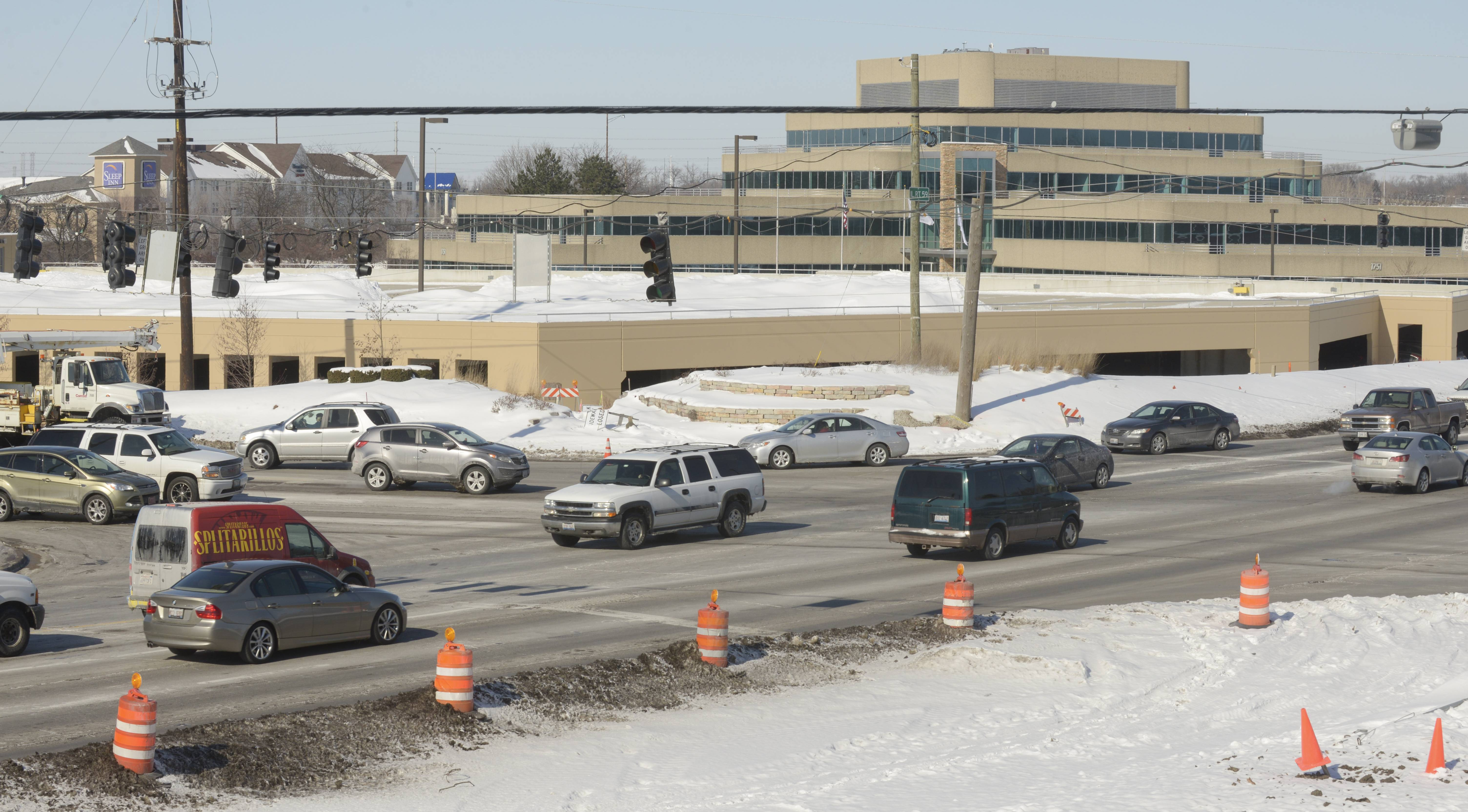 The Naperville intersection of Route 59 and Diehl Road was the site of 58 crashes in 2013 -- tied for highest citywide with another intersection on Route 59 at 95th Street. Police say work to widen the road and state laws to prevent distracted driving could help reduce the number of crashes.