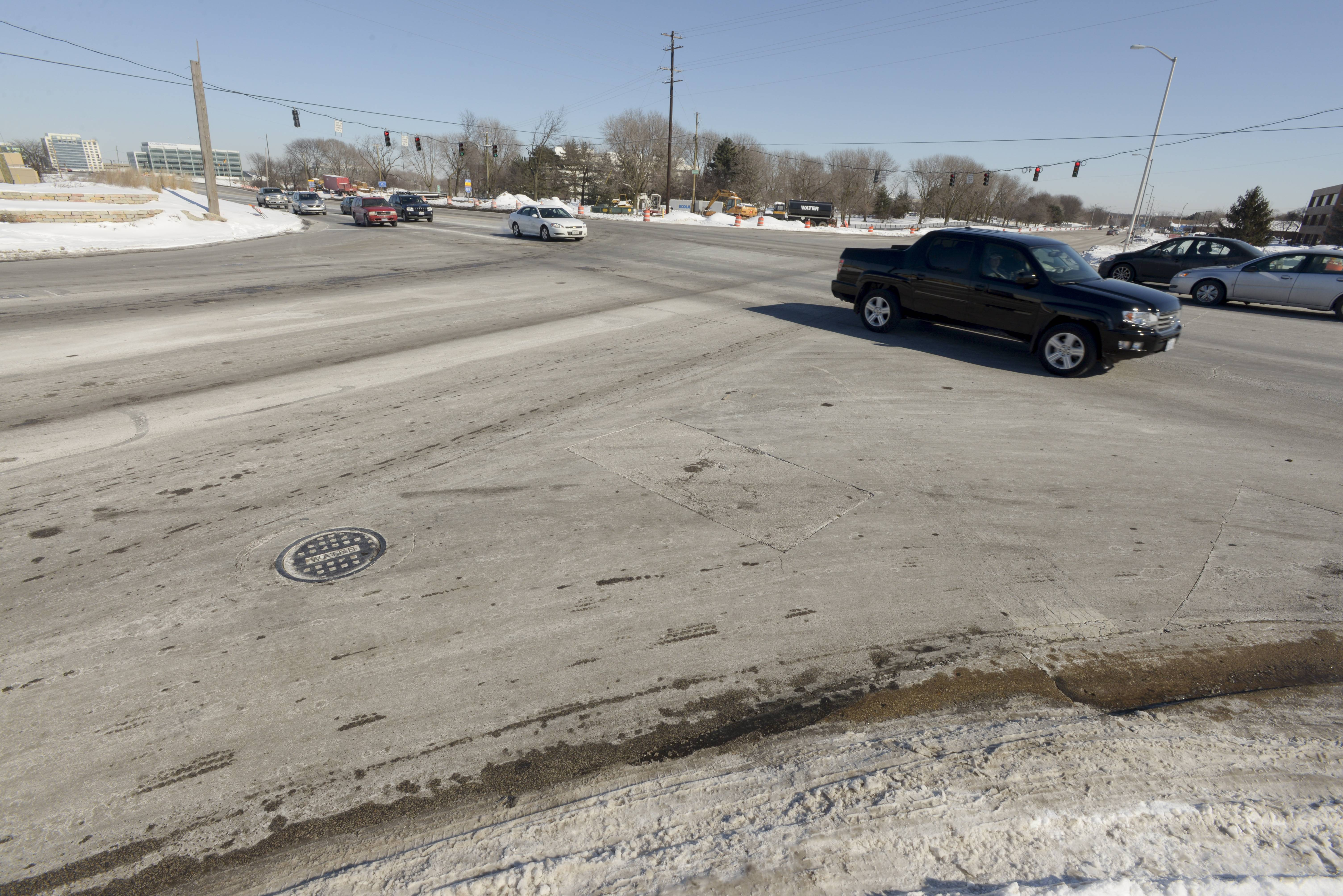 The Naperville intersection of Route 59 and Diehl Road, which has been under construction since August, saw 58 accidents in 2013.