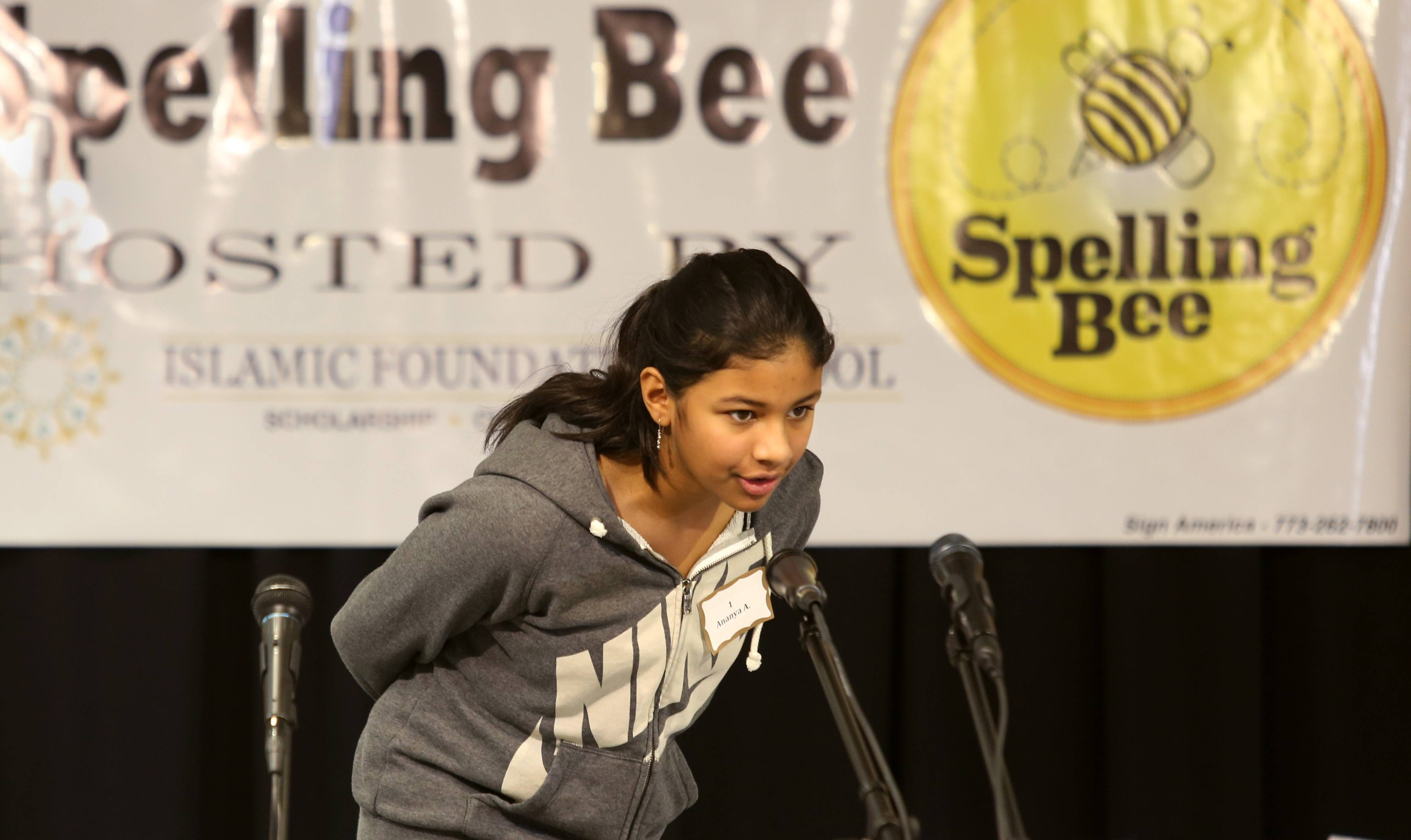 Ananya Asthana from Avery Coonley School in Downers Grove emerged Wednesday as one of three winners from a field of 24 students from private and parochial schools across DuPage County to advance to the next round of the Scripps National Spelling Bee competition.