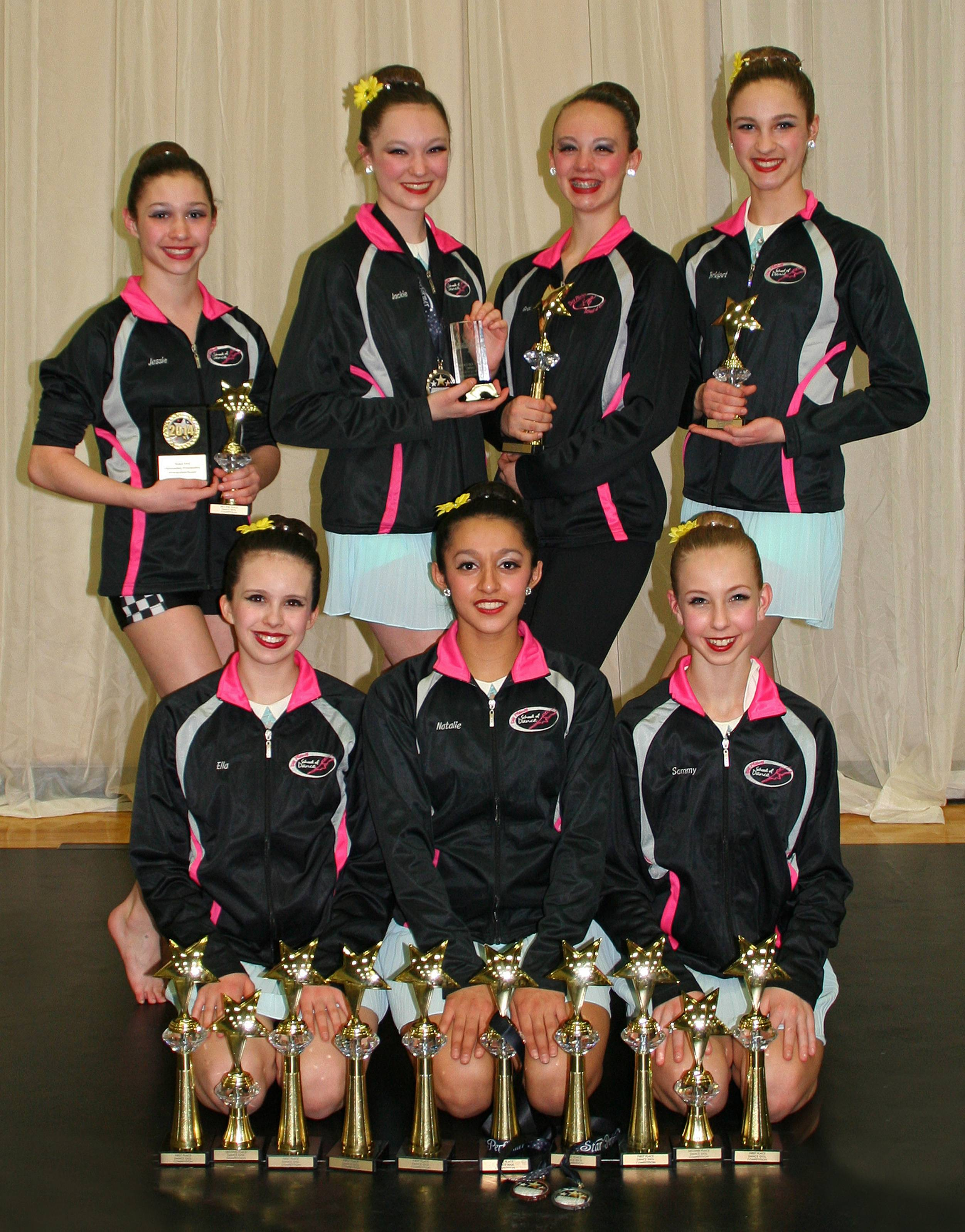 "In the 12-14 age group, First Place went to Artistry in Motion Dance Company for ""Girl with the Red Balloon"" a small group lyrical number."