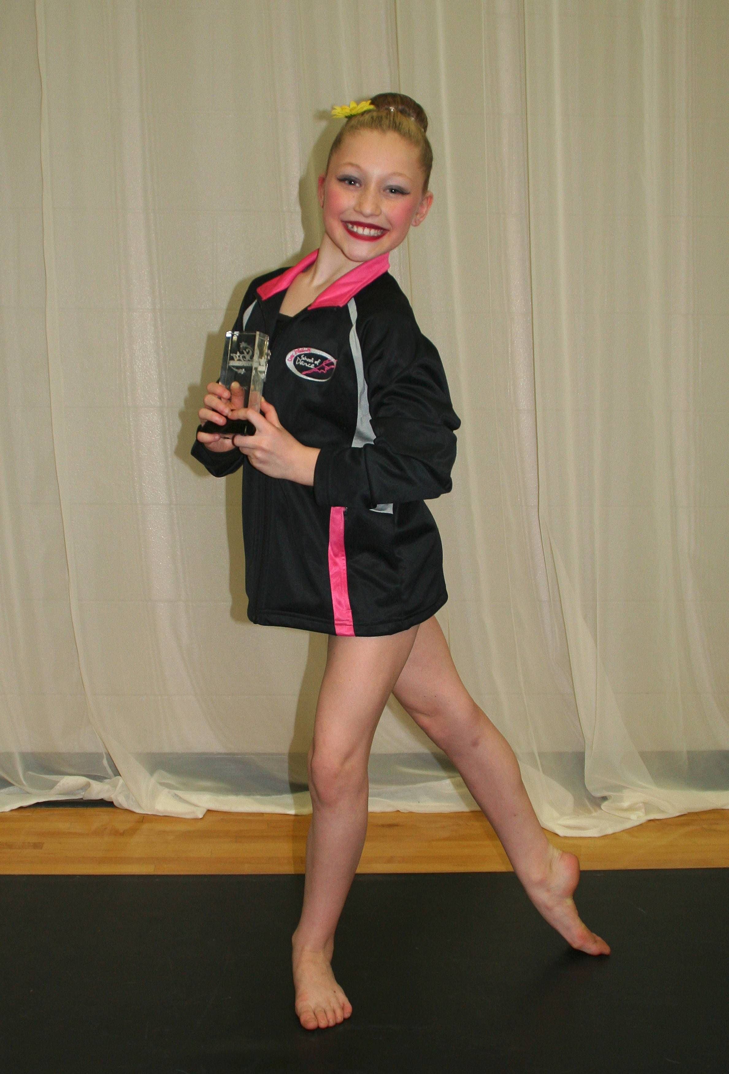 "In the 9-11 age group, Artistry in Motion Dance Company took First Place for ""Thriller,"" a lyrical solo performed by Jordin Suwalski."