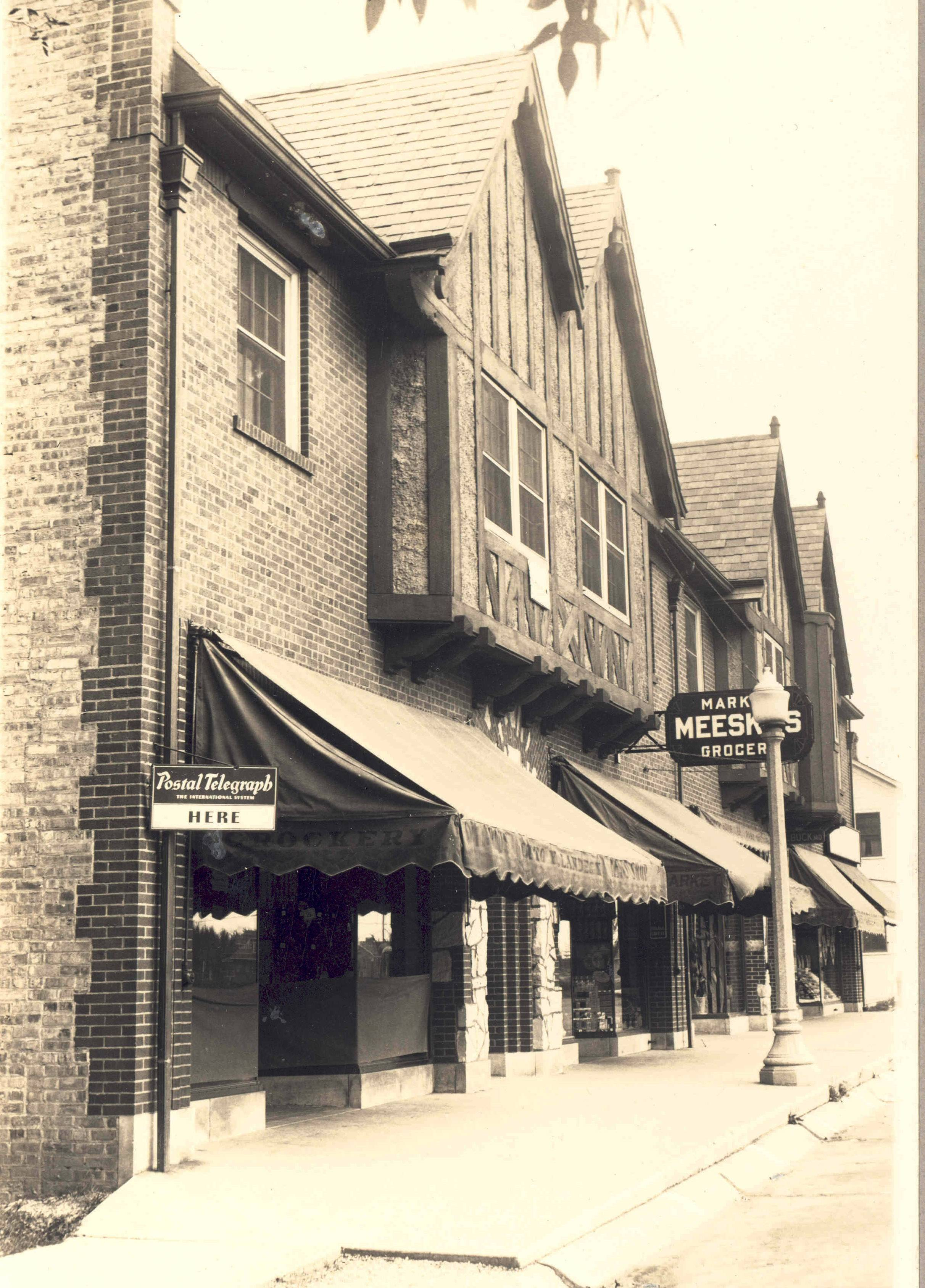 Here is another picture of the original Busse building looking south on Main Street.