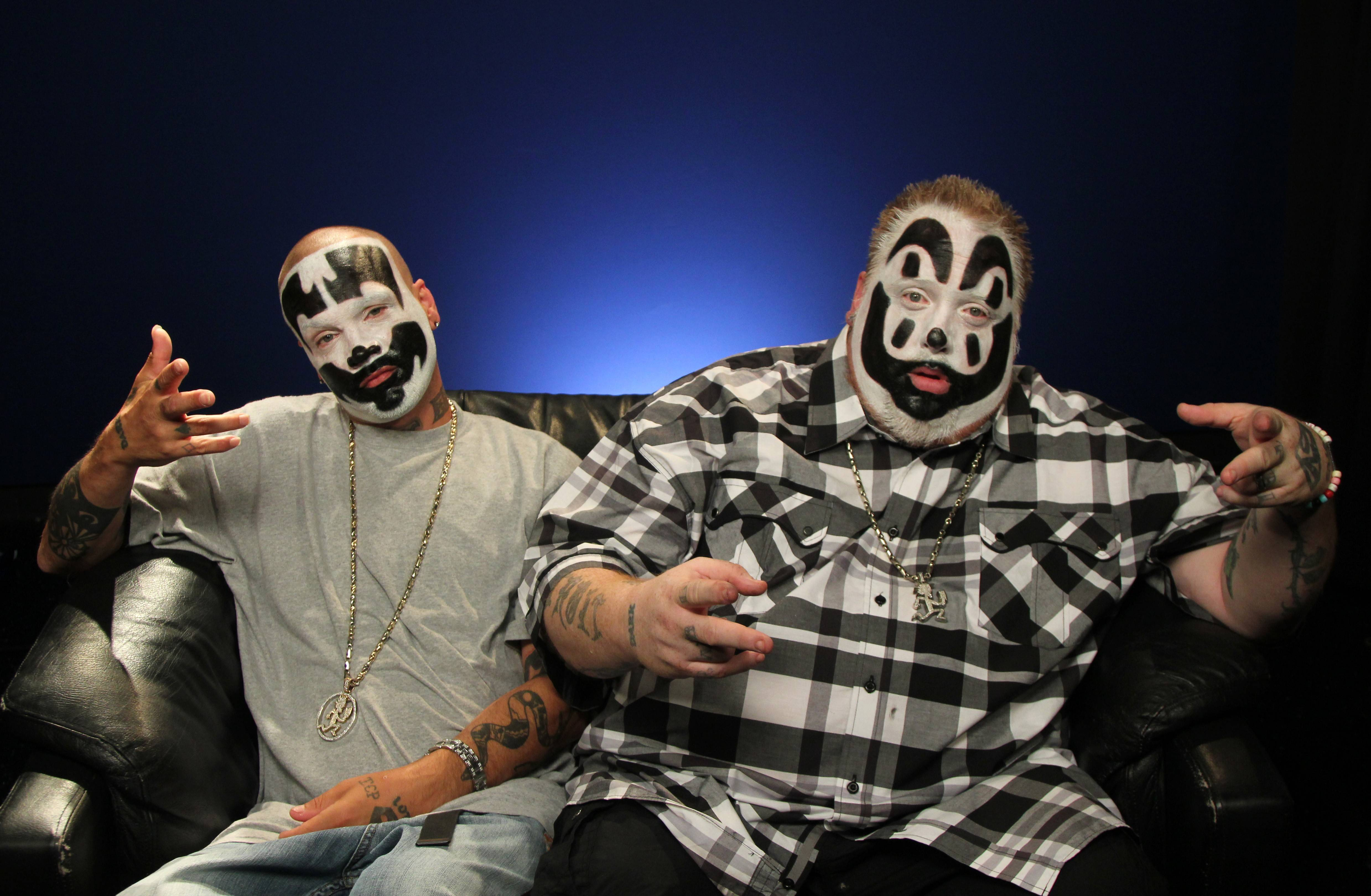 Joseph Utsler, known as Shaggy 2 Dope, left, and Joseph Bruce, also known as Violent J, form Insane Clown Posse. The yearly festival headlined by the Detroit rappers is seeking a new home.