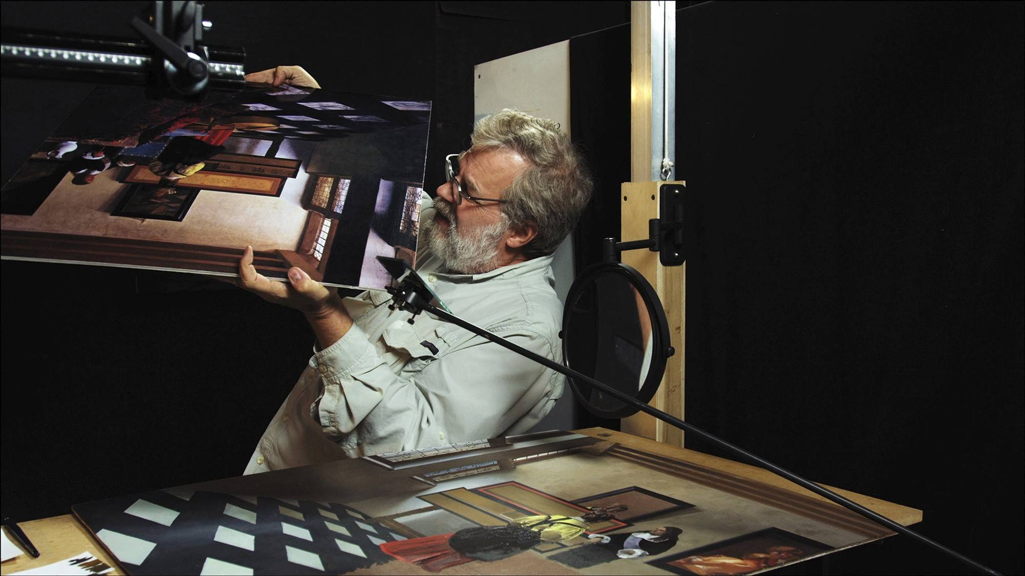 "Tim Jenison investigates a master painter's work in the documentary ""Tim's Vermeer."""