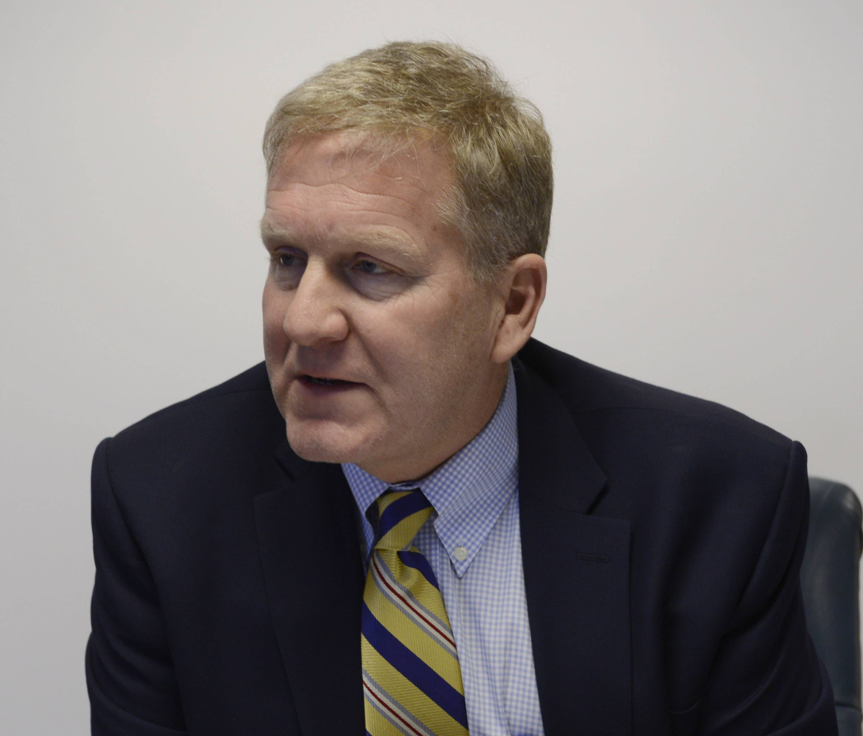 Tom Cross, who is running for Illinois treasurer in the Republican primary March 18, answers a question posed by the Daily Herald editorial board.