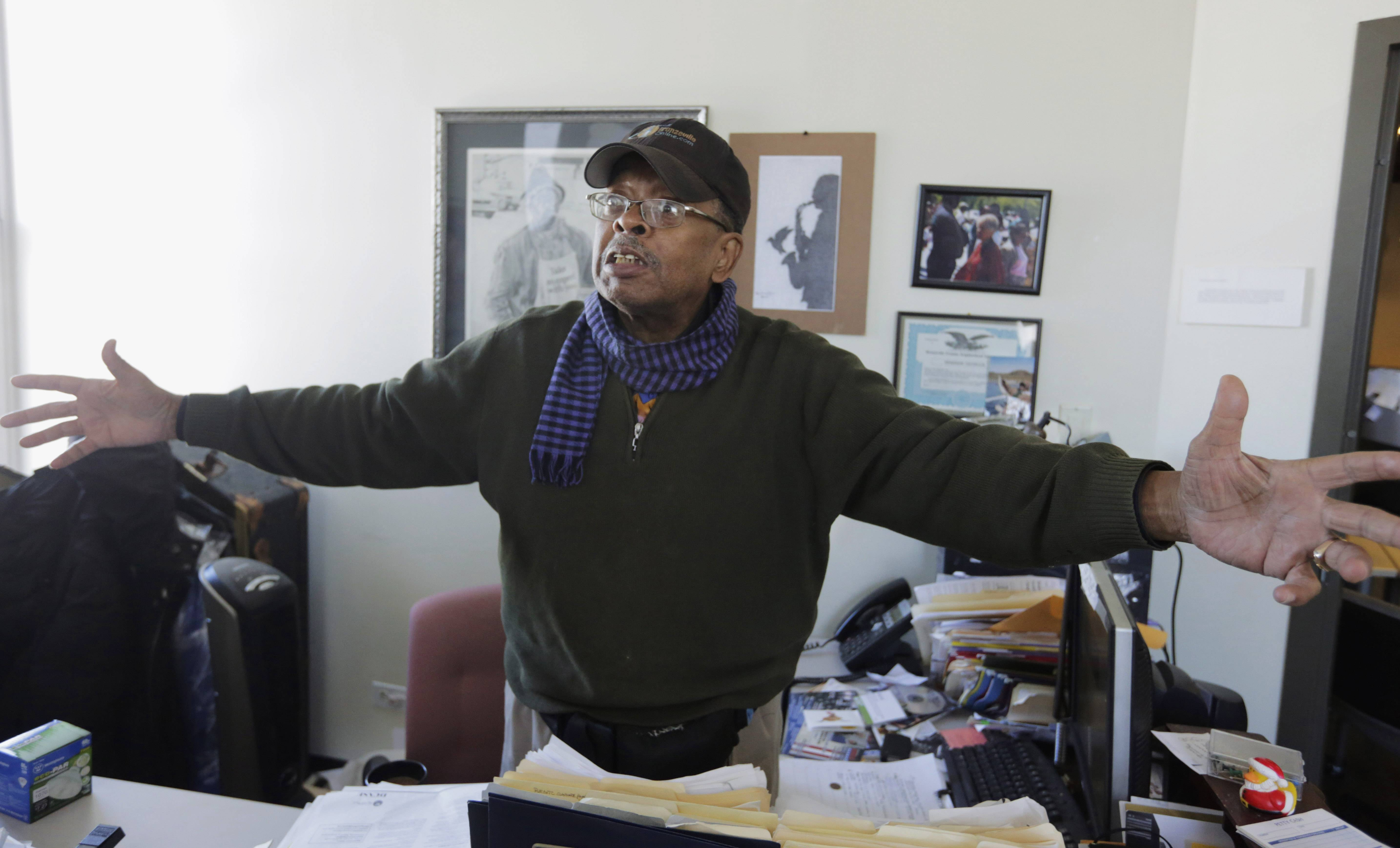 Organizer Harold Lucas is part of a group advocating for Bronzeville, the city's historic center of black culture, business and politics, to become the home to a Barack Obama presidential library. Bronzville is one of six potential Chicago sites bidding to be the location for the library, each backed by different interests.