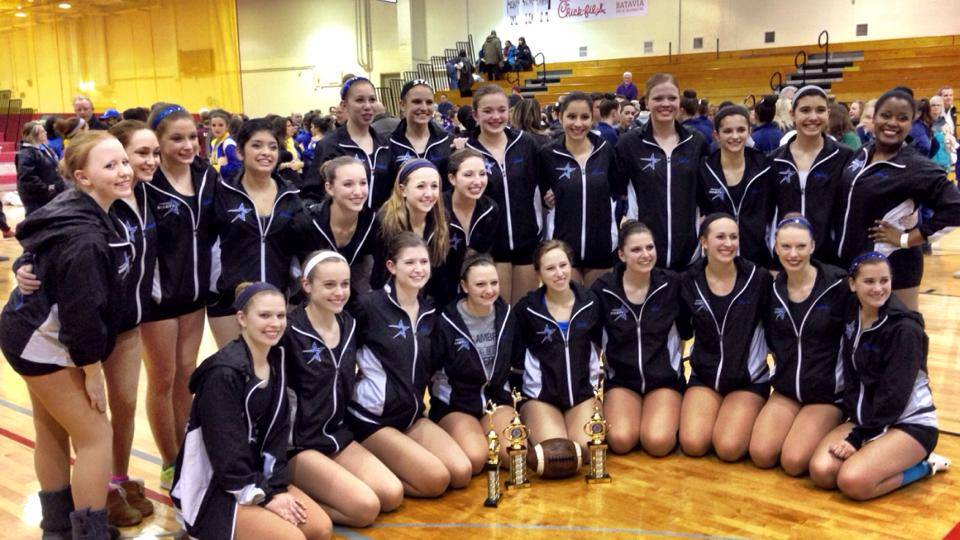 The St. Charles North Varsity and JV Drill Teams include: first row, Nikki Arnold, Brittany Allen, Anna Spence, Colleen Lullo, Shelby Kroncke, Lexi Artman, Kassi Ams, Jamie Beaulieu and Marykate Purcell; and back row, Bailey Moberly, AnnaMarie Vivirito, Isabel Miller, Angelina Batista, Grace Taylor, McKenzie Bell, Lexi Zocher, Amanda Ziesmer, Quinn Samanic, Abby Kott, Alissa Rivera, Emilia Sinkkonen, Ally Hursh, Becky Zangora and Eleisse Pettigrew.