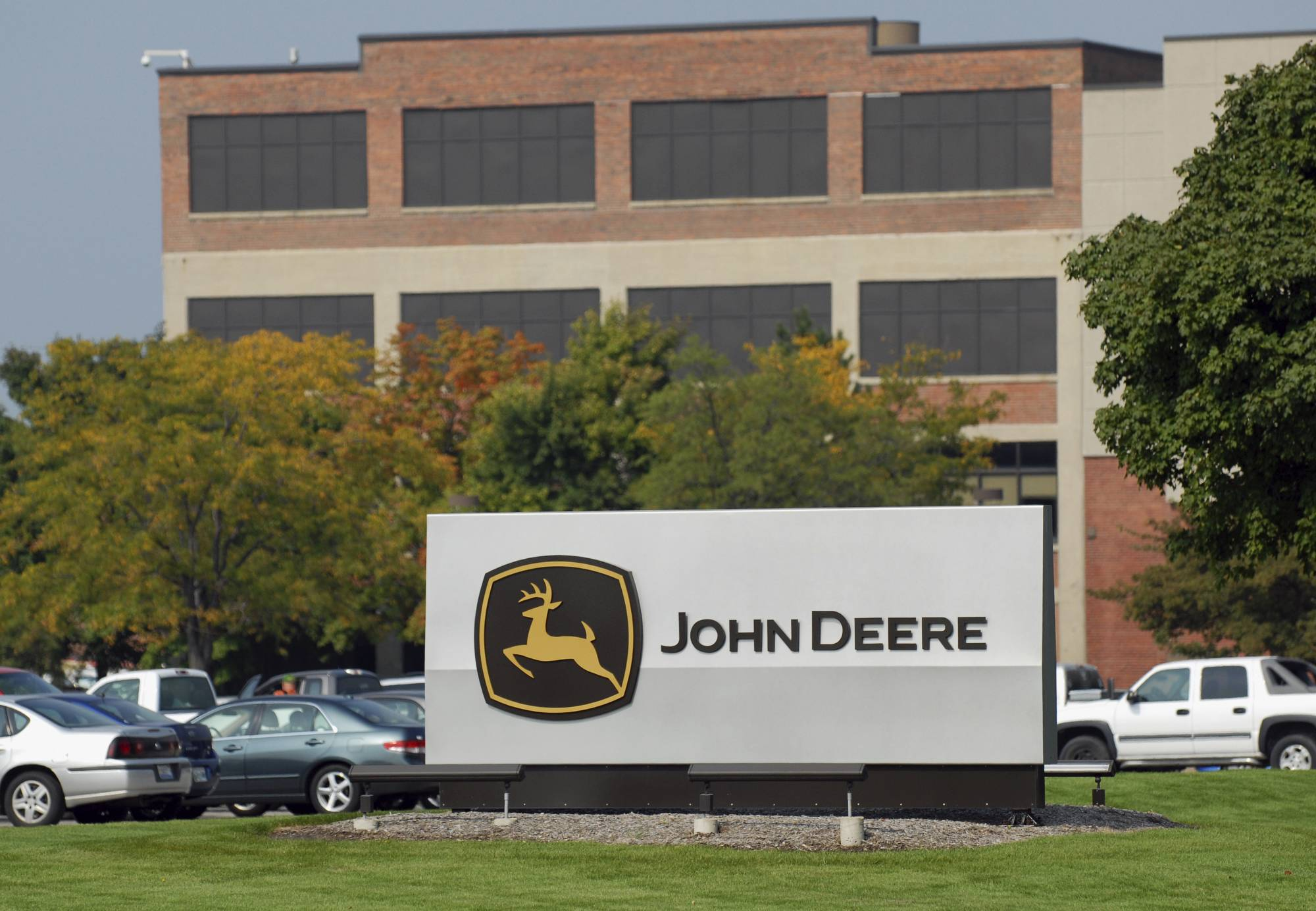 The John Deere facility in East Moline. Moline-based Deere & Co. says it will lay off about 120 workers at its combine plant in East Moline on March 31. The company said this week that it expects the North American farm-equipment industry to see a 5 percent to 10 percent drop in sales.