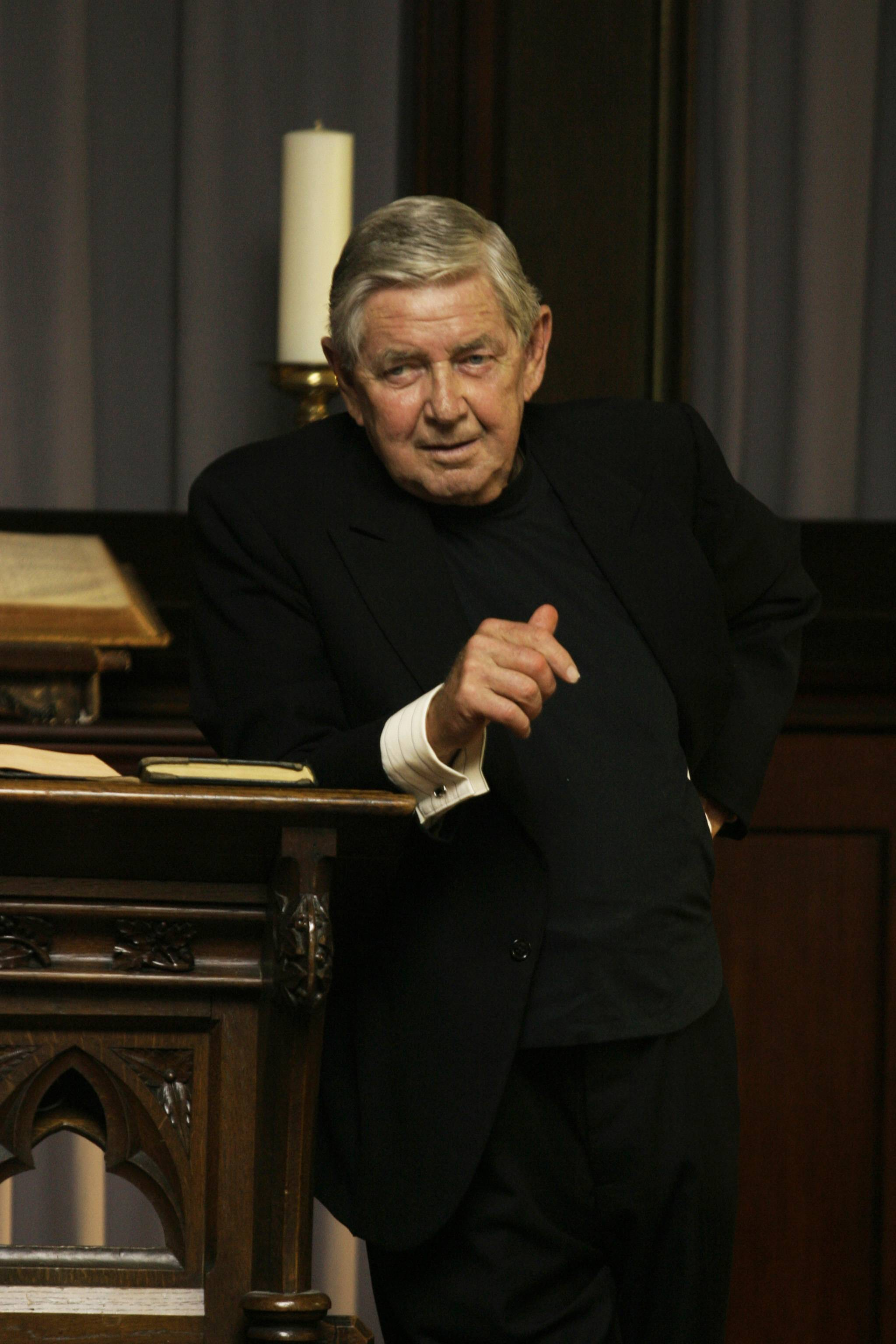 "Ralph Waite as Reverend Norman Balthus in the TV series, ""Carnivale"" on HBO."