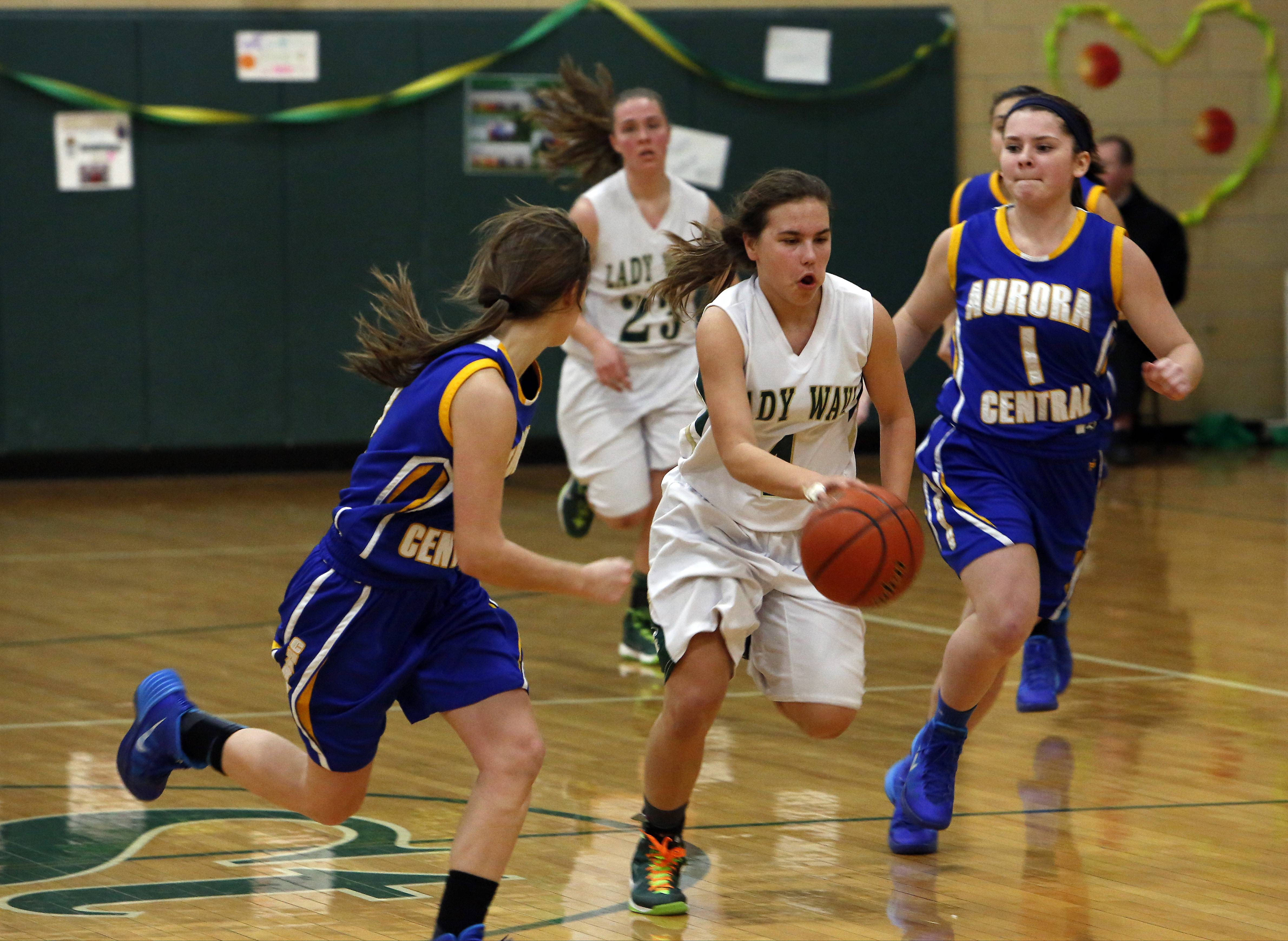 Images from the Aurora Central Catholic at St. Edward girls basketball game on Friday, Feb. 14, 2014.