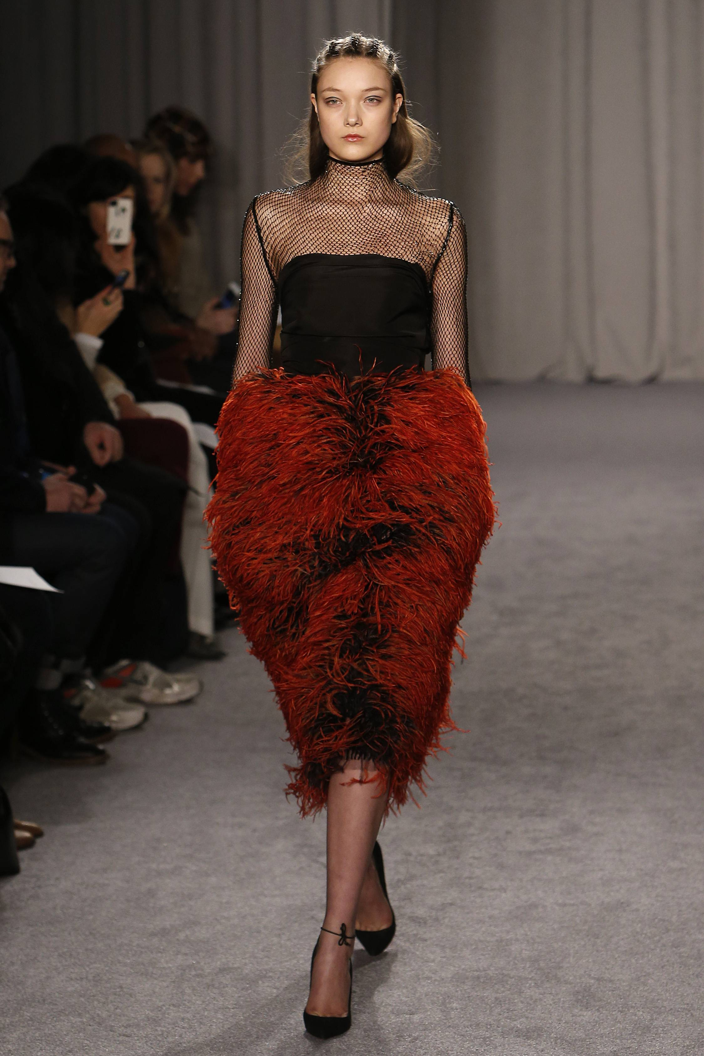 The Marchesa Fall 2014 collection is modeled during Fashion Week in New York.