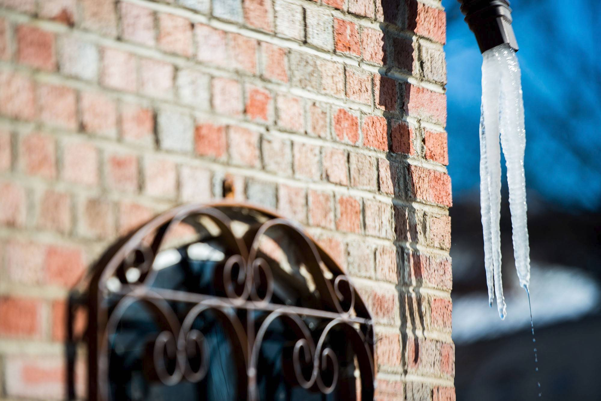 Icicles might be pretty, but they also can indicate a problem: gutters that aren't draining properly, which can cause significant damage to your house.