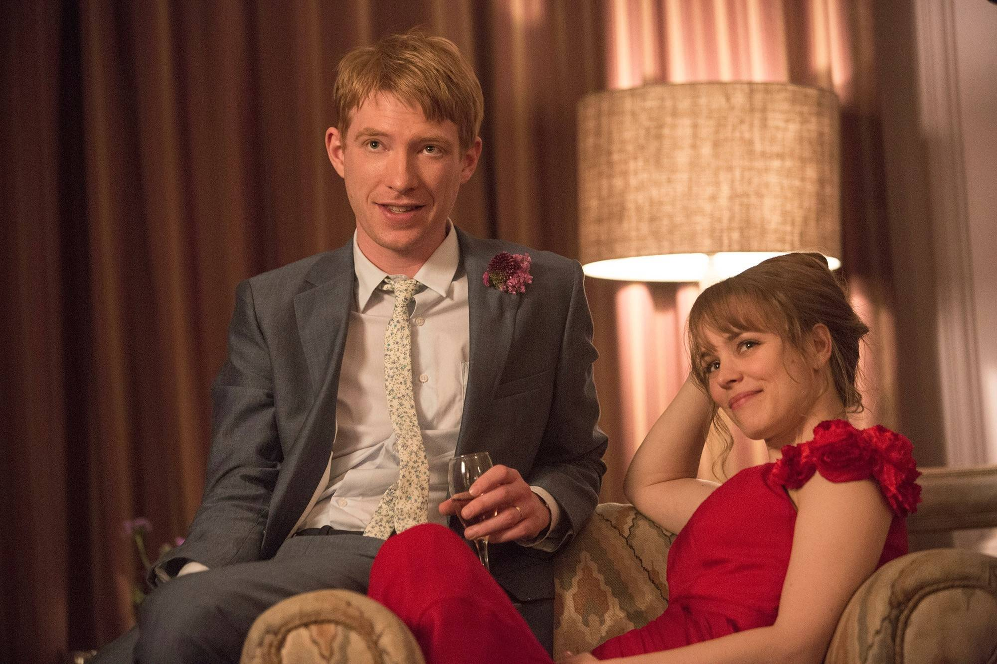 "Tim (Domhnall Gleeson) uses his ability to time-travel to win over Mary (Rachel McAdams) in Richard Curtis' romantic fantasy ""About Time."""
