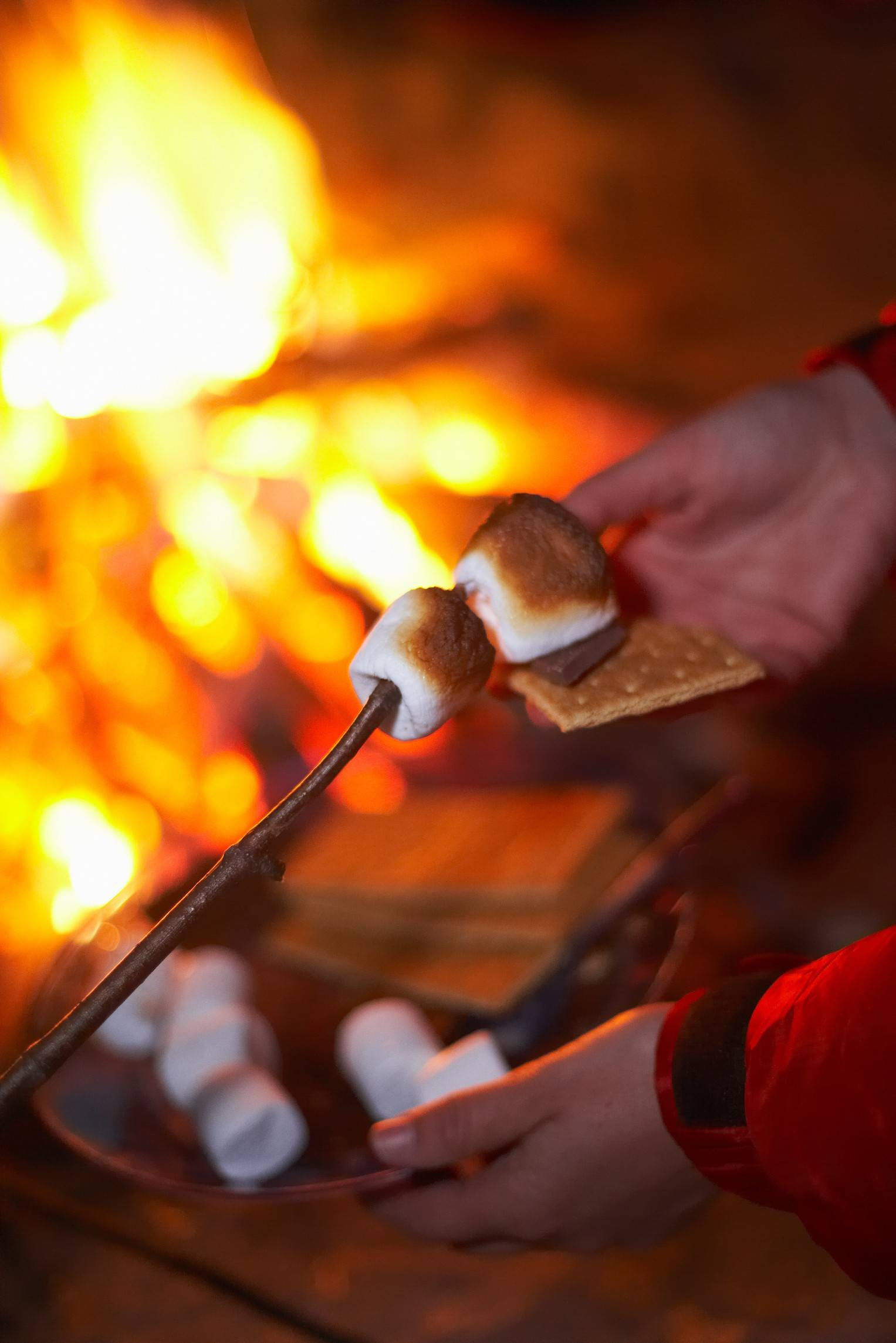 A roaring campfire and s'mores make for a sweet family-friendly Valentine's Day at Prairieview Education Center in Crystal Lake.