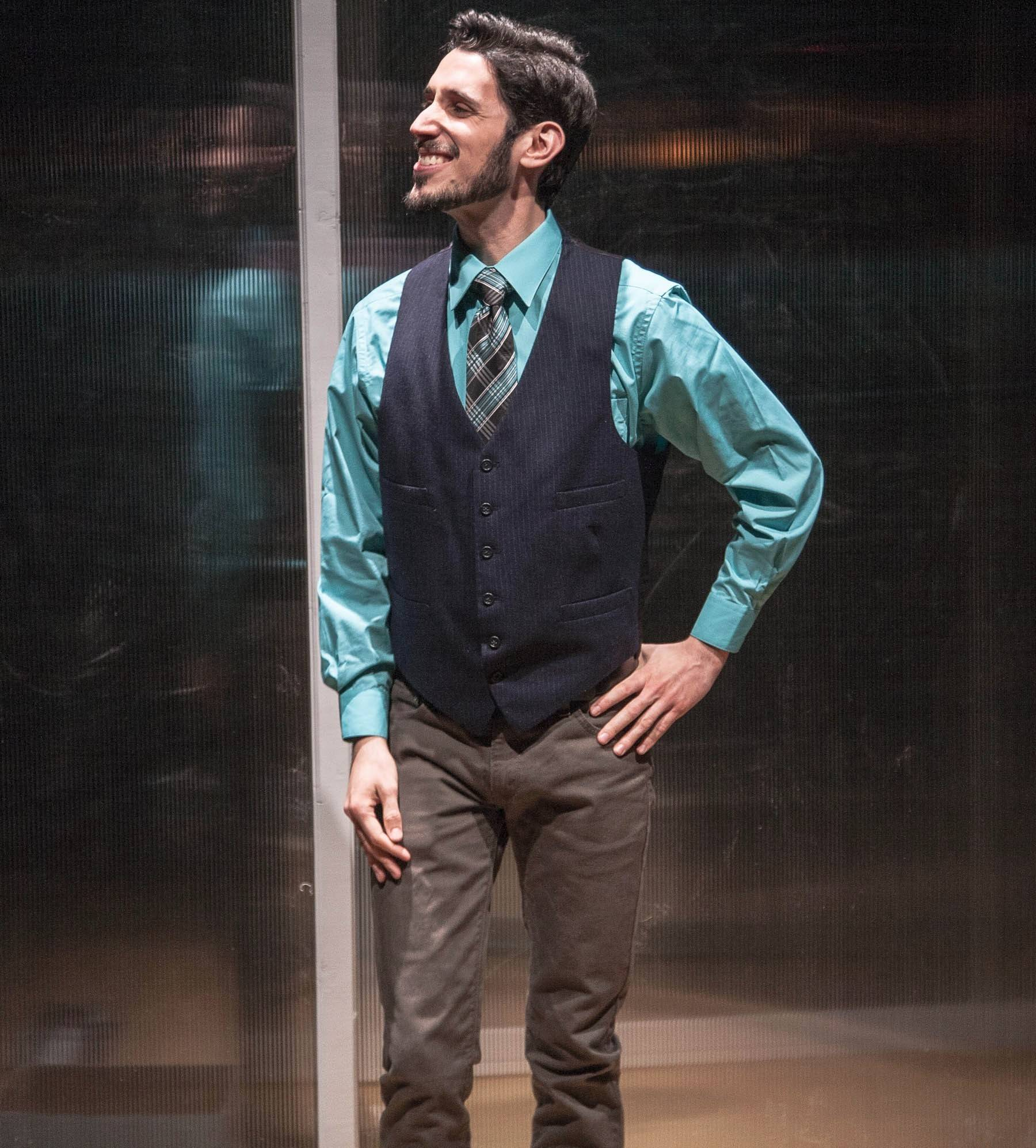 "Elmhurst native John Taflan stars in LiveWire Chicago Theatre's production of ""Assistance"" by Leslye Headland."