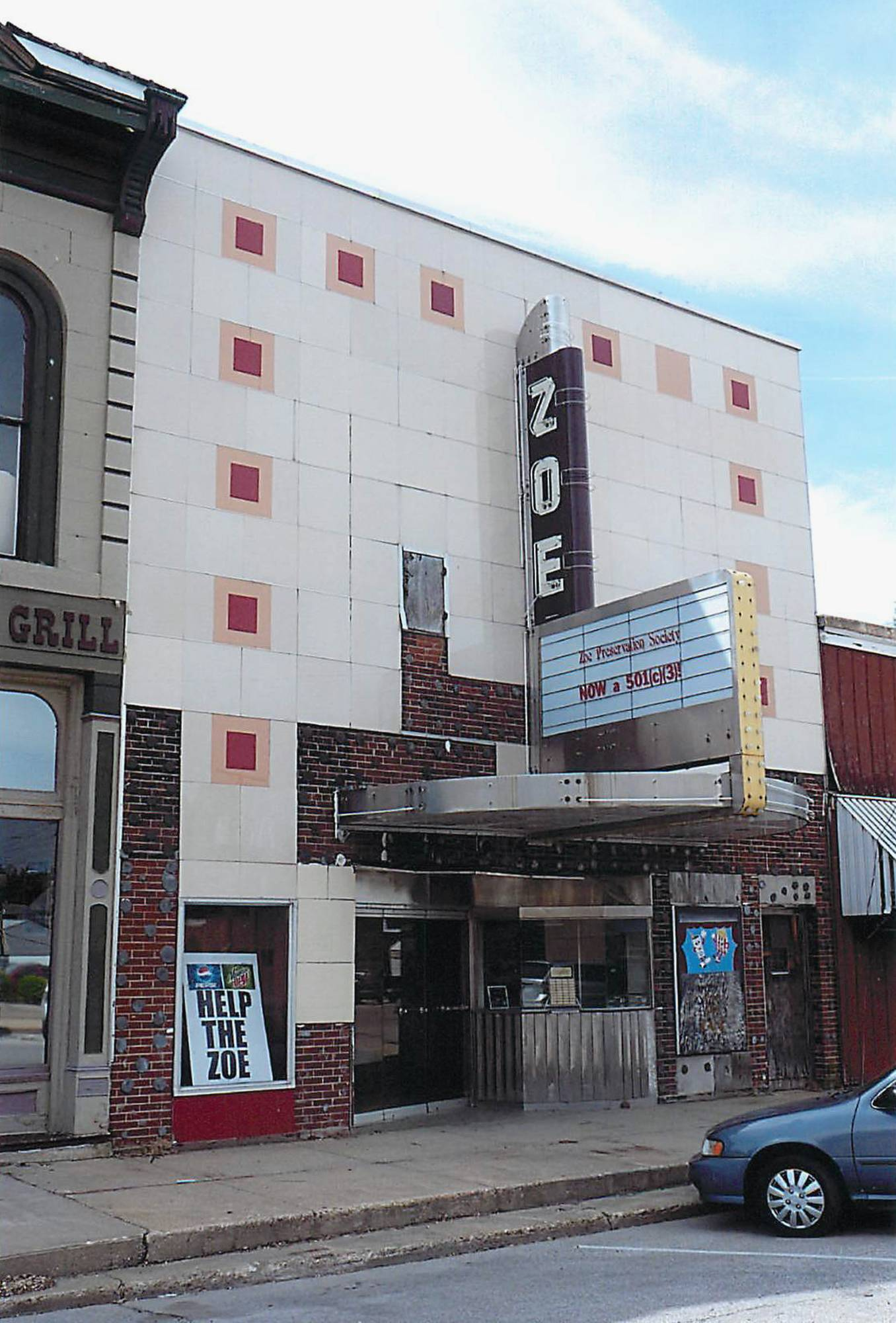 The Zoe Theater in downstate Pittsfield is one of the more than two dozen Illinois buildings and downtown districts that were added to the National Register of Historic Places in 2013.
