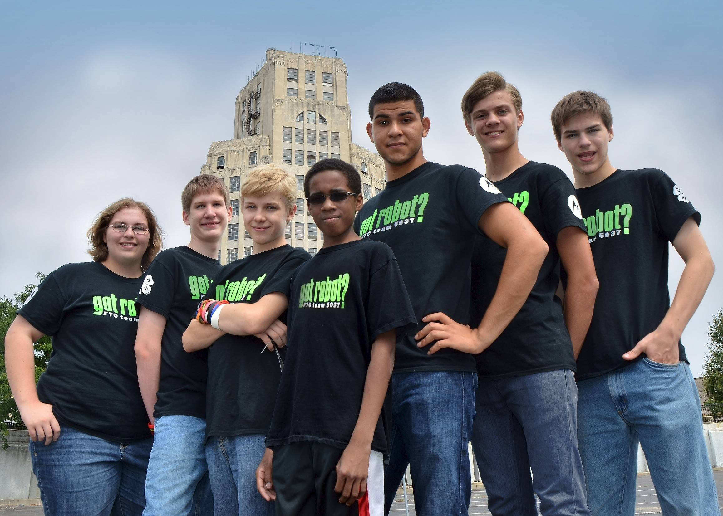 "Kane County 4-H'ers and ""got robot?"" team members are, from left: Kristen McKellar, Chris Laker, Aidan Pollard, P.J. Stephen, Marcos Marquez, Bo Russell, and Matthew McKellar. This season, ""got robot?"" – also known as FIRST Tech Challenge Robotics Team 5037 – has already advanced to the 2013-2014 FTC Illinois State Championship at IIT in Chicago, where it will compete Saturday, Feb. 22."