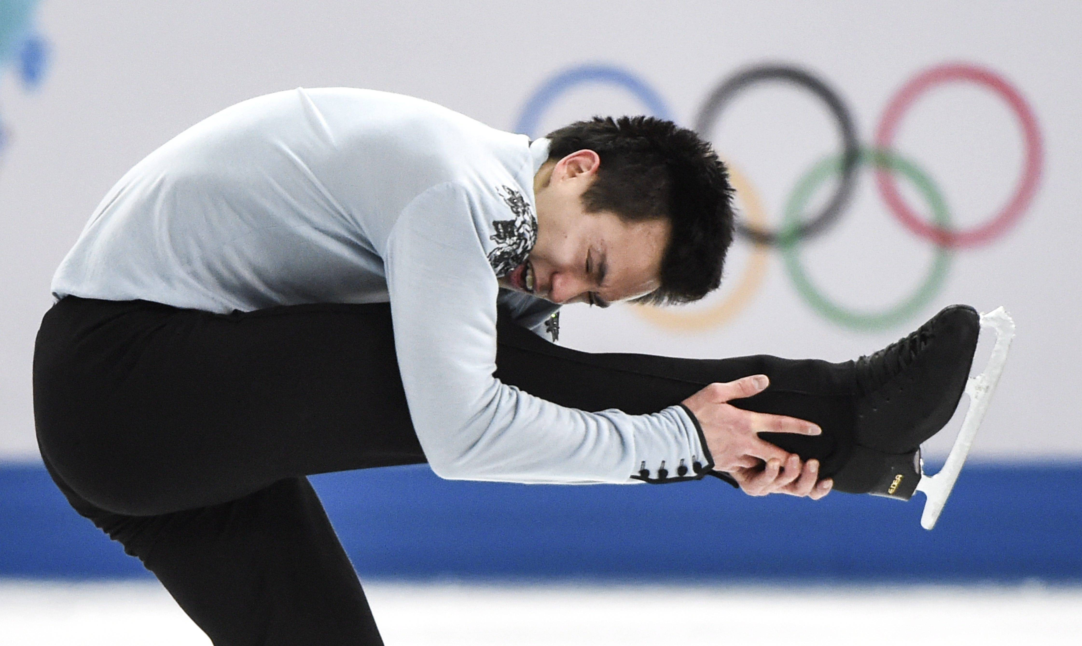 Patrick Chan, of Canada, competes in the men's free skate figure skating final.