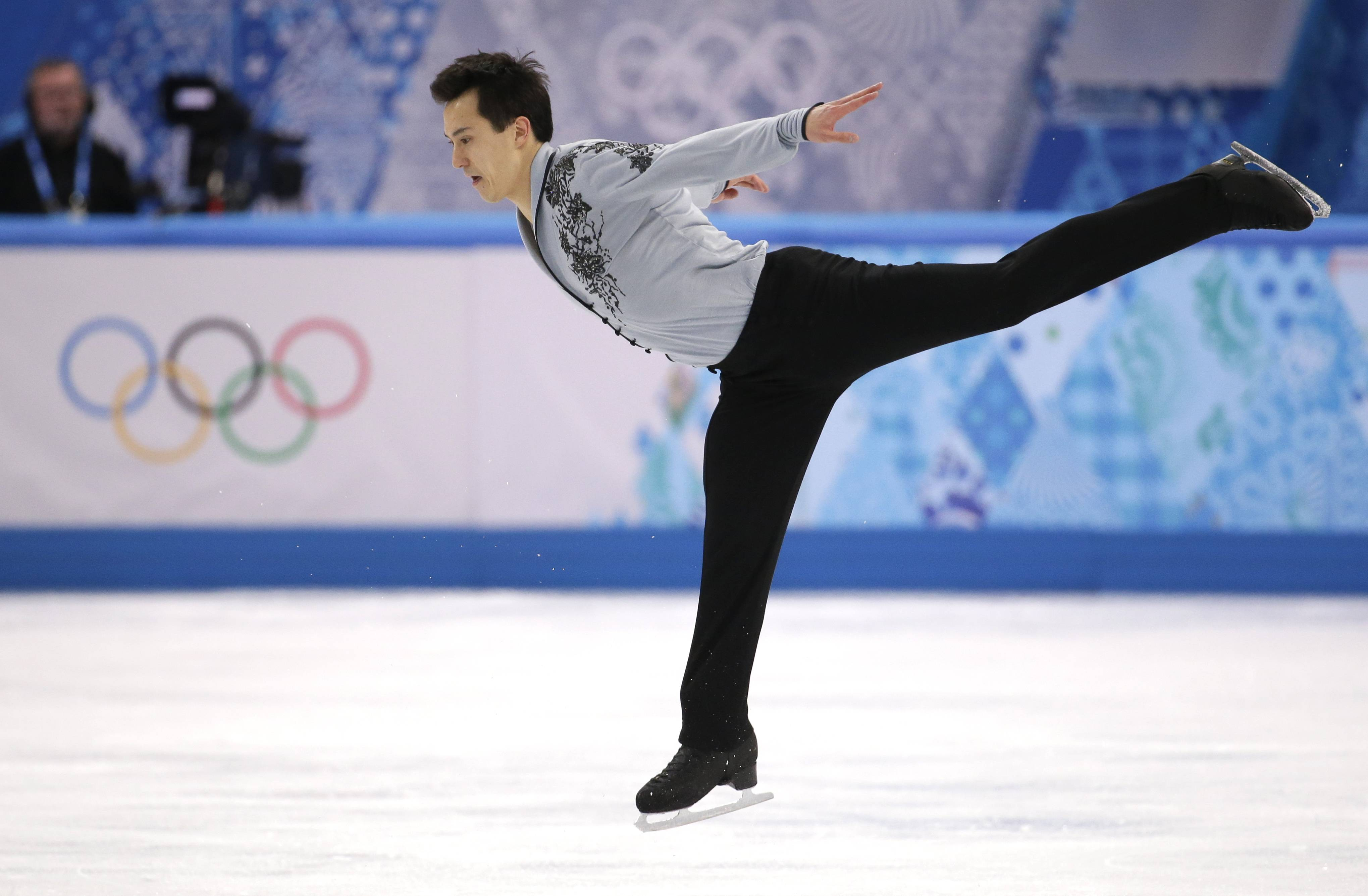 Patrick Chan of Canada competes in the men's free skate figure skating final.