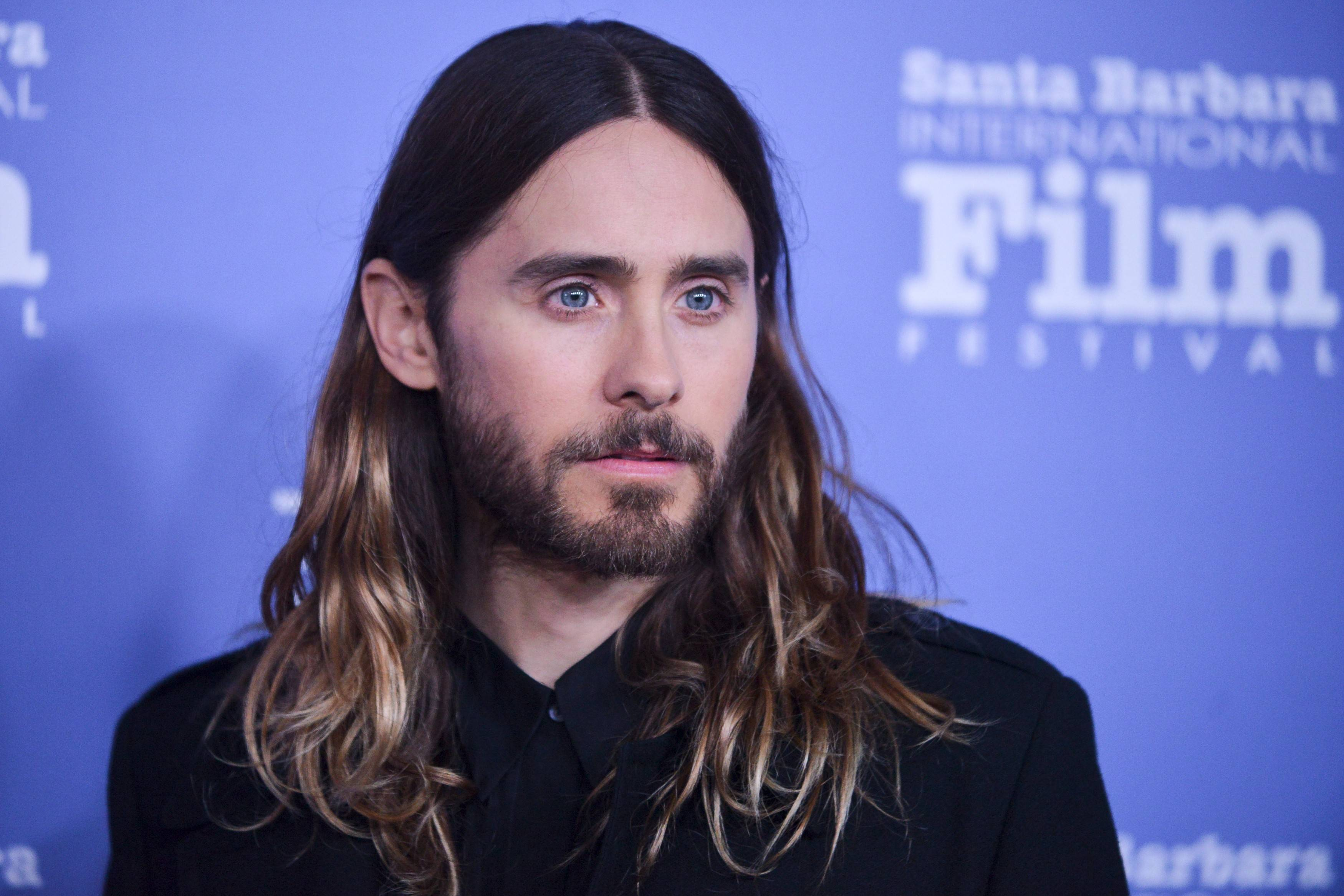 Jared Leto arrives at 2014 Santa Barbara International Film Festival Virtuosos Award ceremony Tuesday, Feb, 4, 2014 in Santa Barbara.