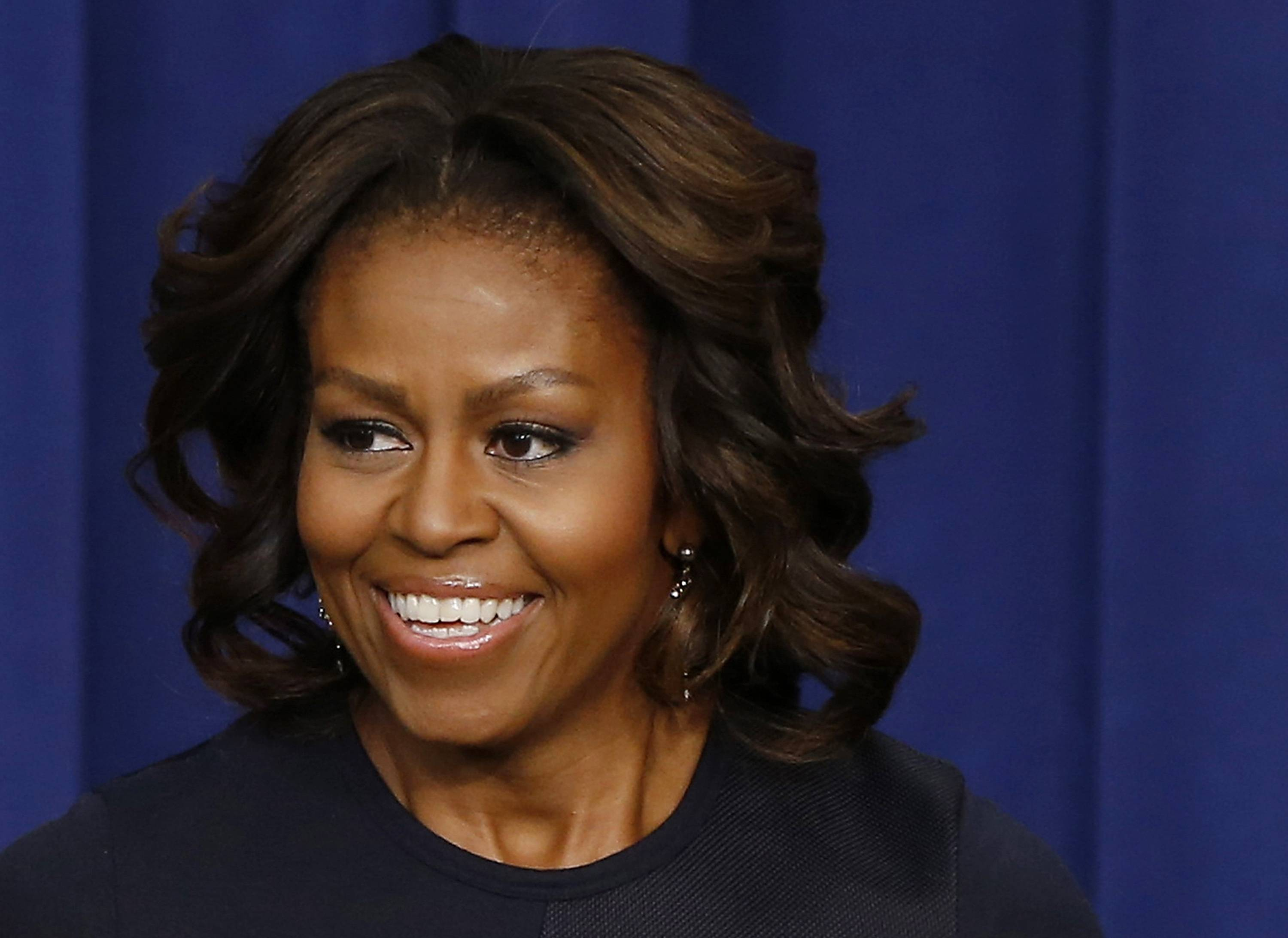 Associated Press/Jan. 16, 2014 First lady Michelle Obama in the Eisenhower Executive Office Building on the White House complex in Washington.