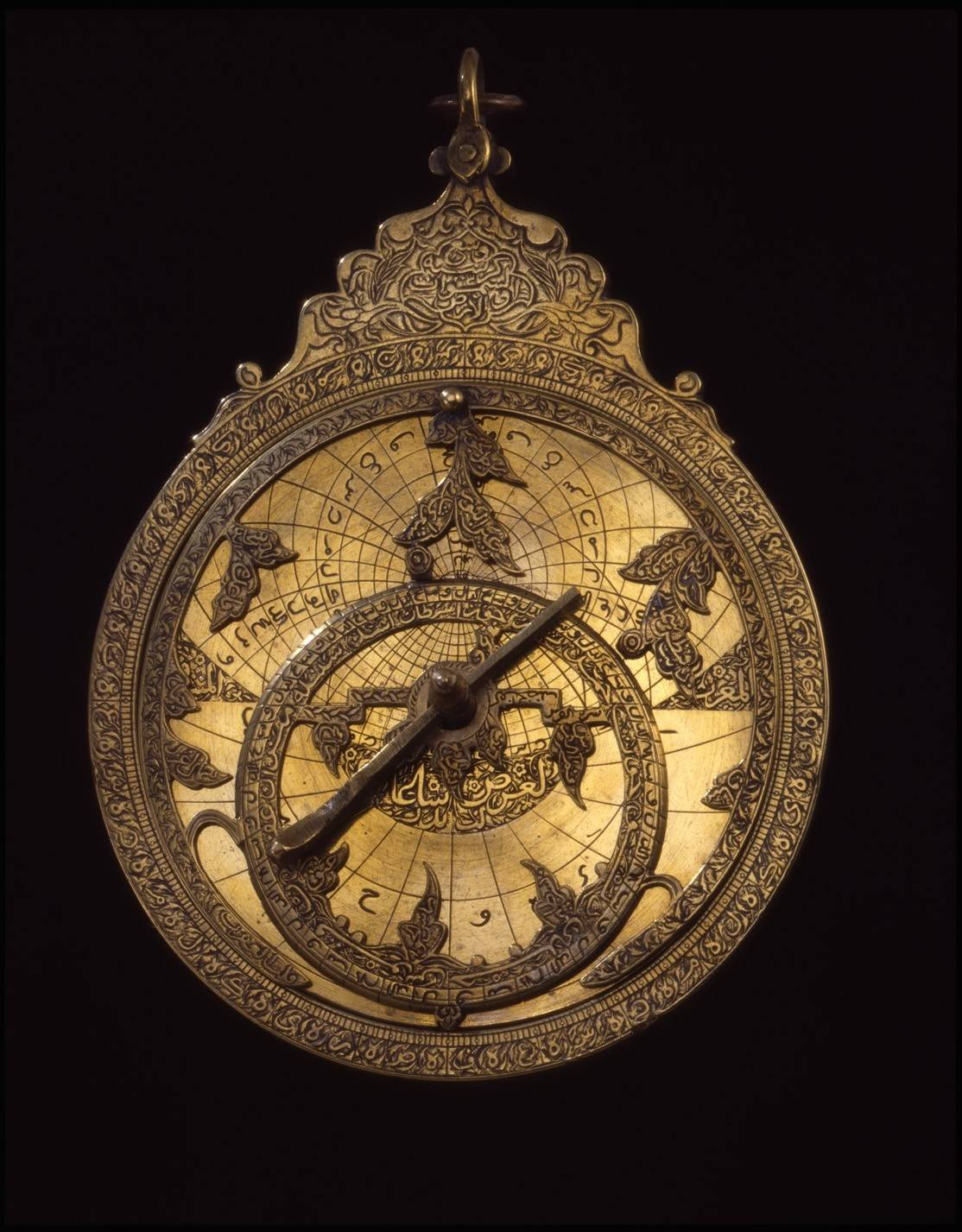 "Better understand the connections between the Middle East and China by visiting the exhibit, ""Silk Road and Indian Ocean Traders,"" through June 29. See artifacts like this brass astrolabe, Iran, ca. AD 1700."