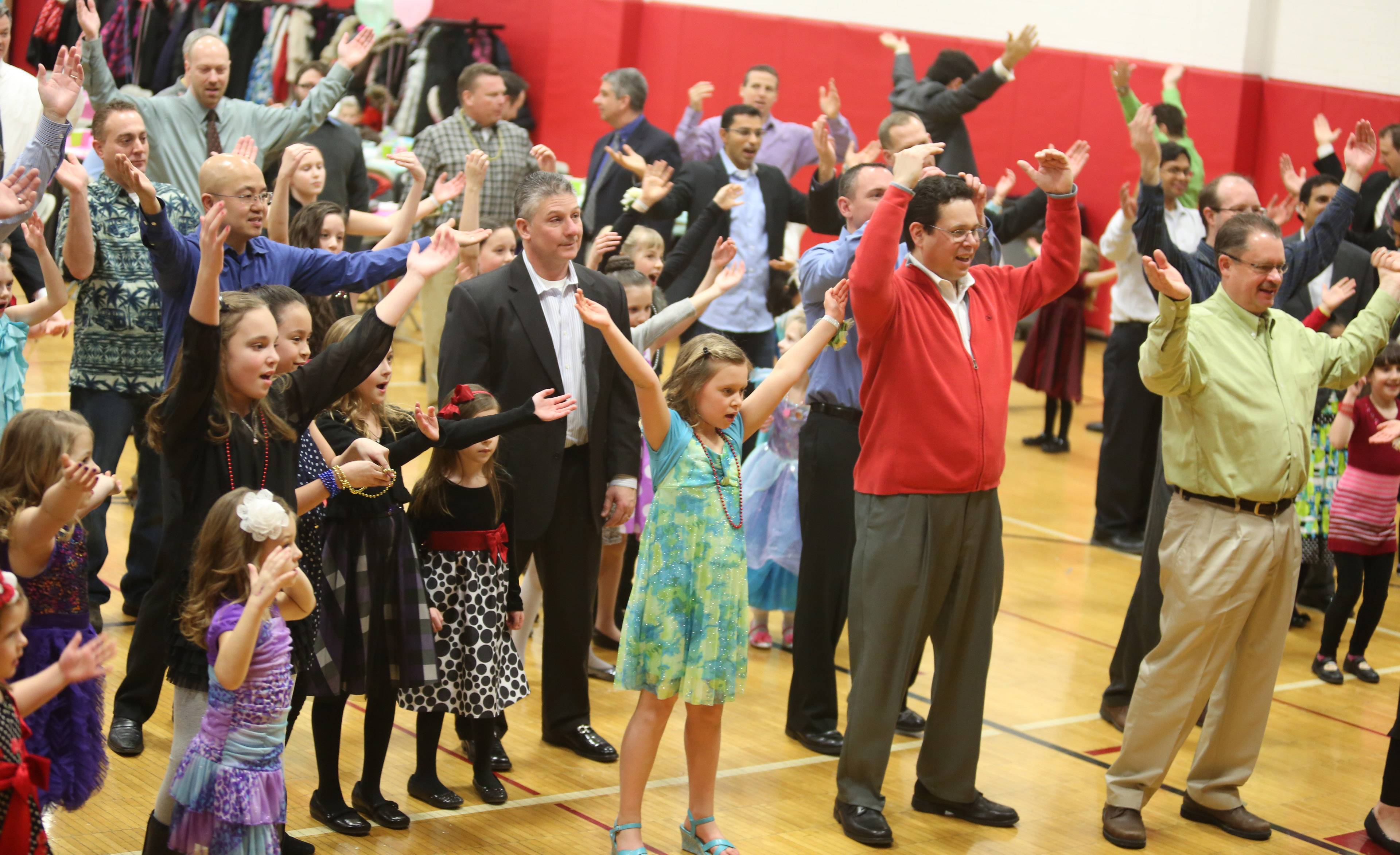 More than 200 attended a dad and daughter dance at the Community Recreation Center on Saturday night in Schaumburg.