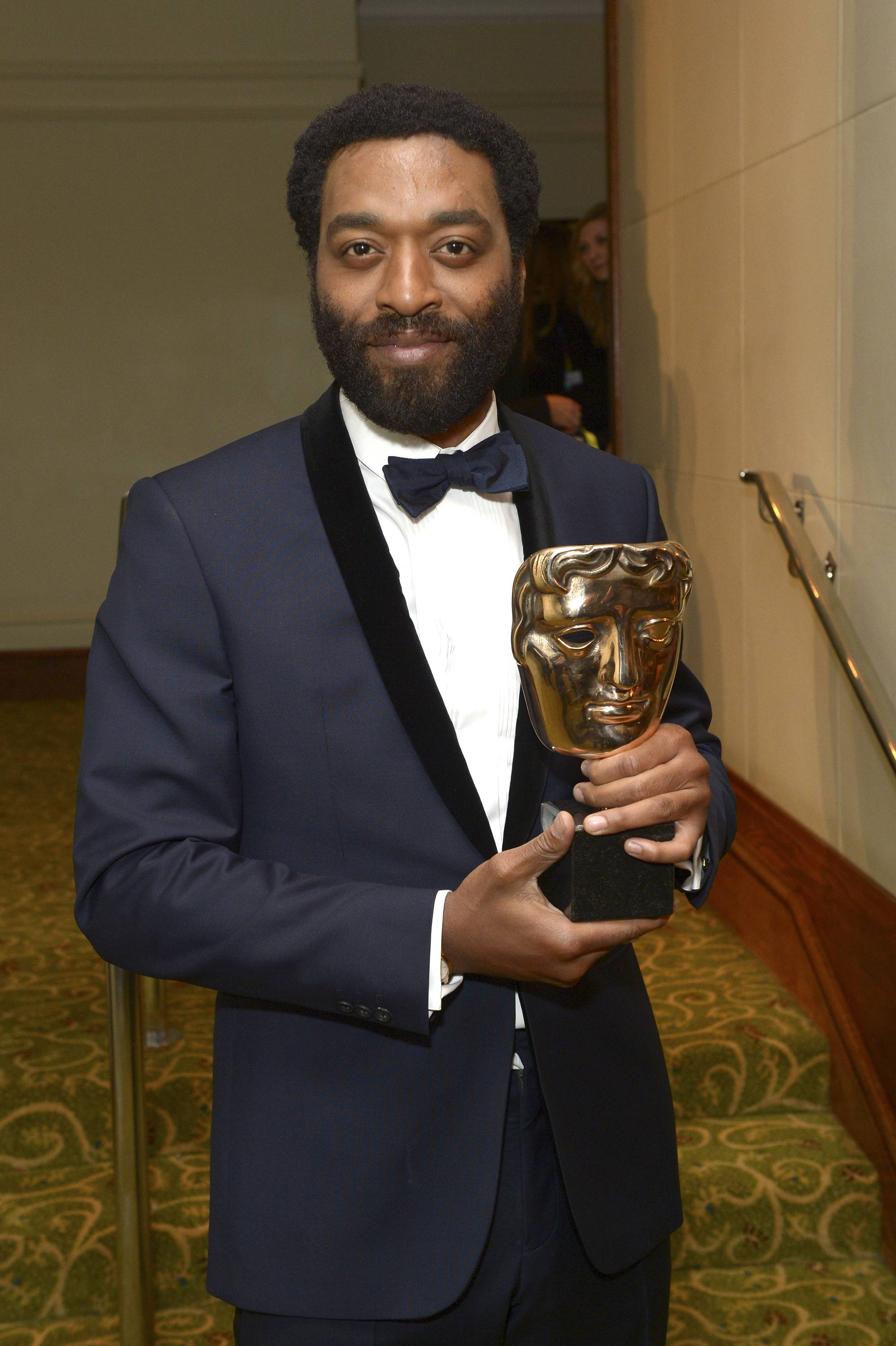 Chiwetel Ejiofor, winner of best actor, attends the EE British Academy Film Awards Official After Party at the Grosvenor House Hotel on Sunday Feb. 16, 2014, in London.