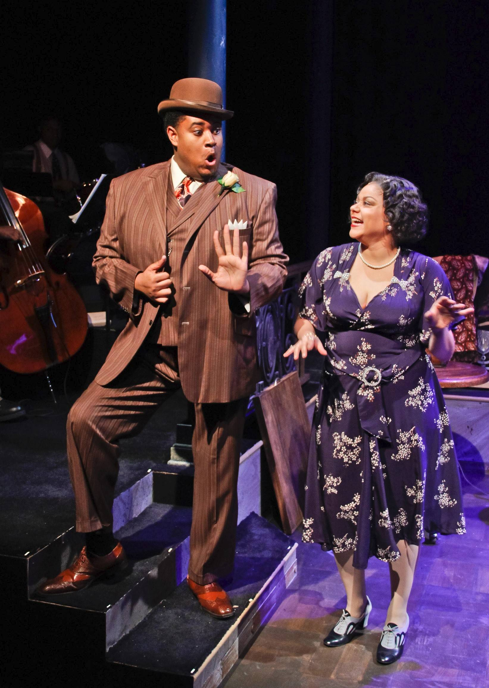 "Lina Wass, of Hoffman Estates, and Lorenzo Rush Jr., of West Chicago, co-star in Porchlight Music Theatre's revival of ""Ain't Misbehavin'"" directed by Brenda Didier."