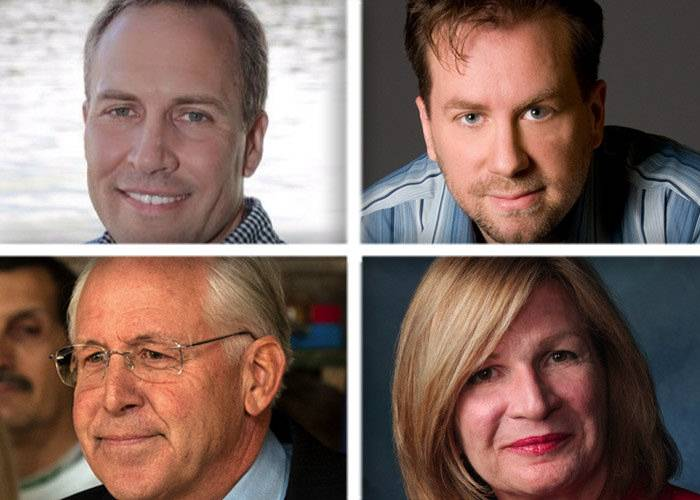 Four Republicans are seeking their party's nomination in the March 18 primary to challenge Democratic incumbent Bill Foster for the 11th Congressional District seat. The GOP candidates are, from upper left, Chris Balkema, Ian Bayne, Bert Miller and Darlene Senger.