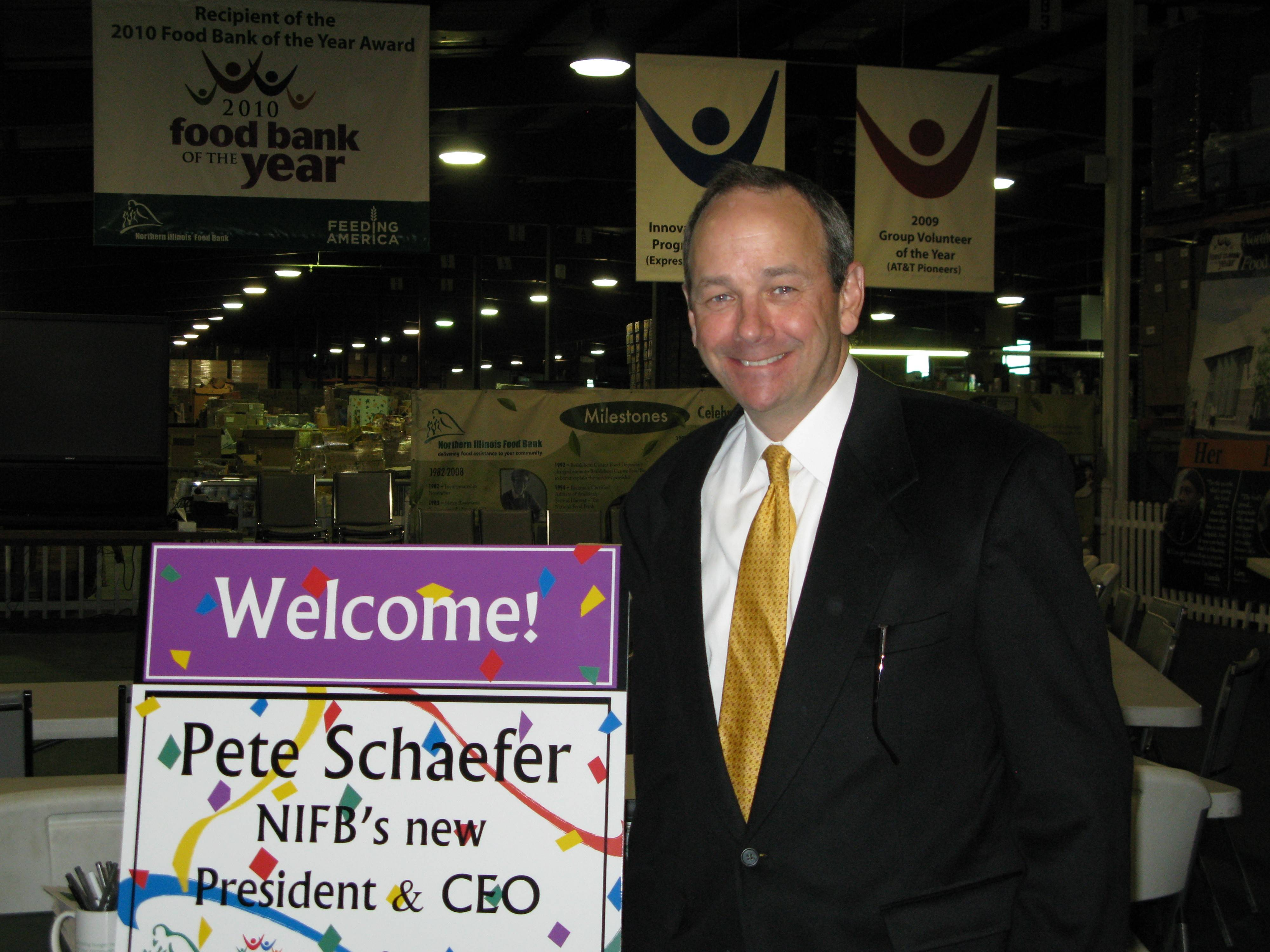 Pete Schaefer is stepping down as the CEO of the Northern Illinois Food Bank after three years at the helm. The food bank improved its infrastructure and increased the number of hungry people it served under his tenure.