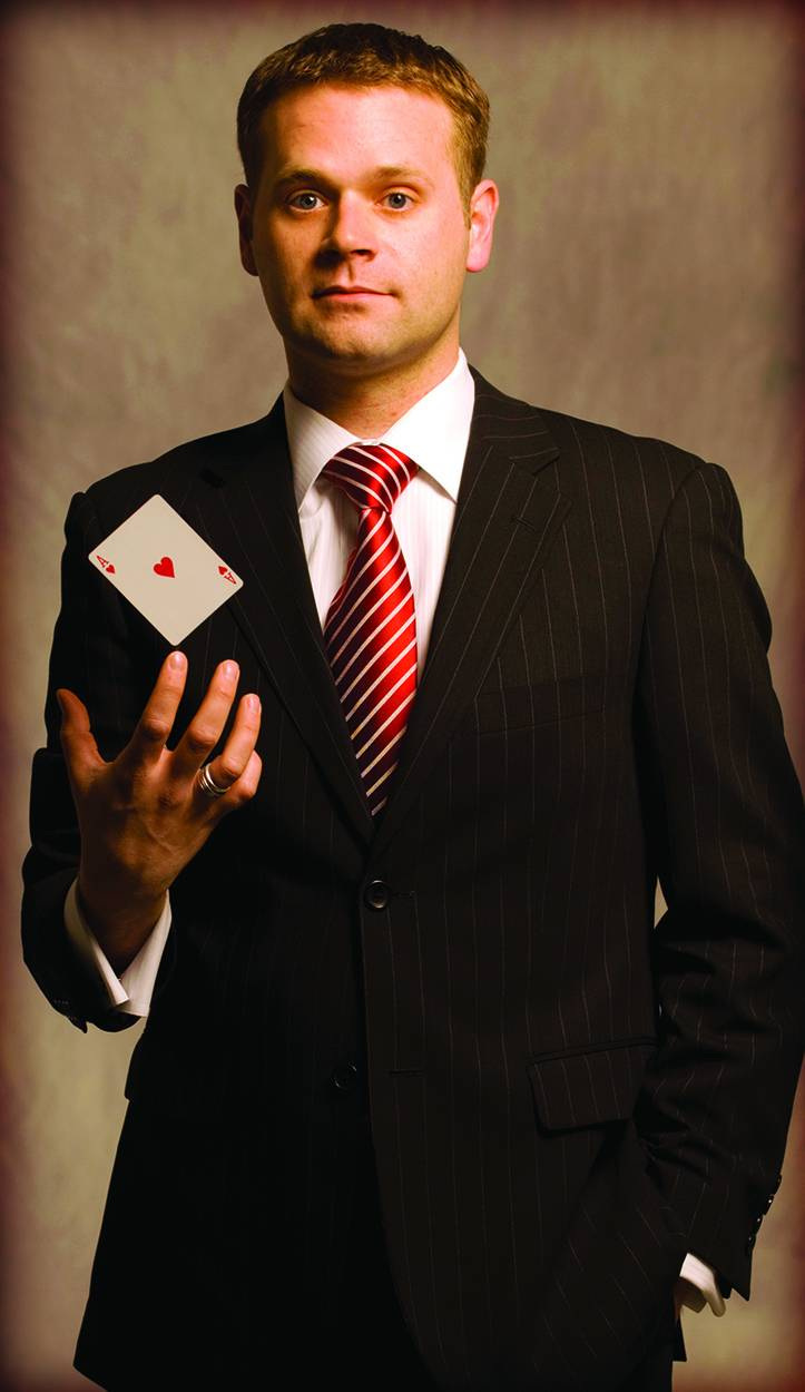 "Magician and mentalist Dennis Watkins will bring his ""mind-boggling"" show to Waubonsee Community College Saturday, March 1."