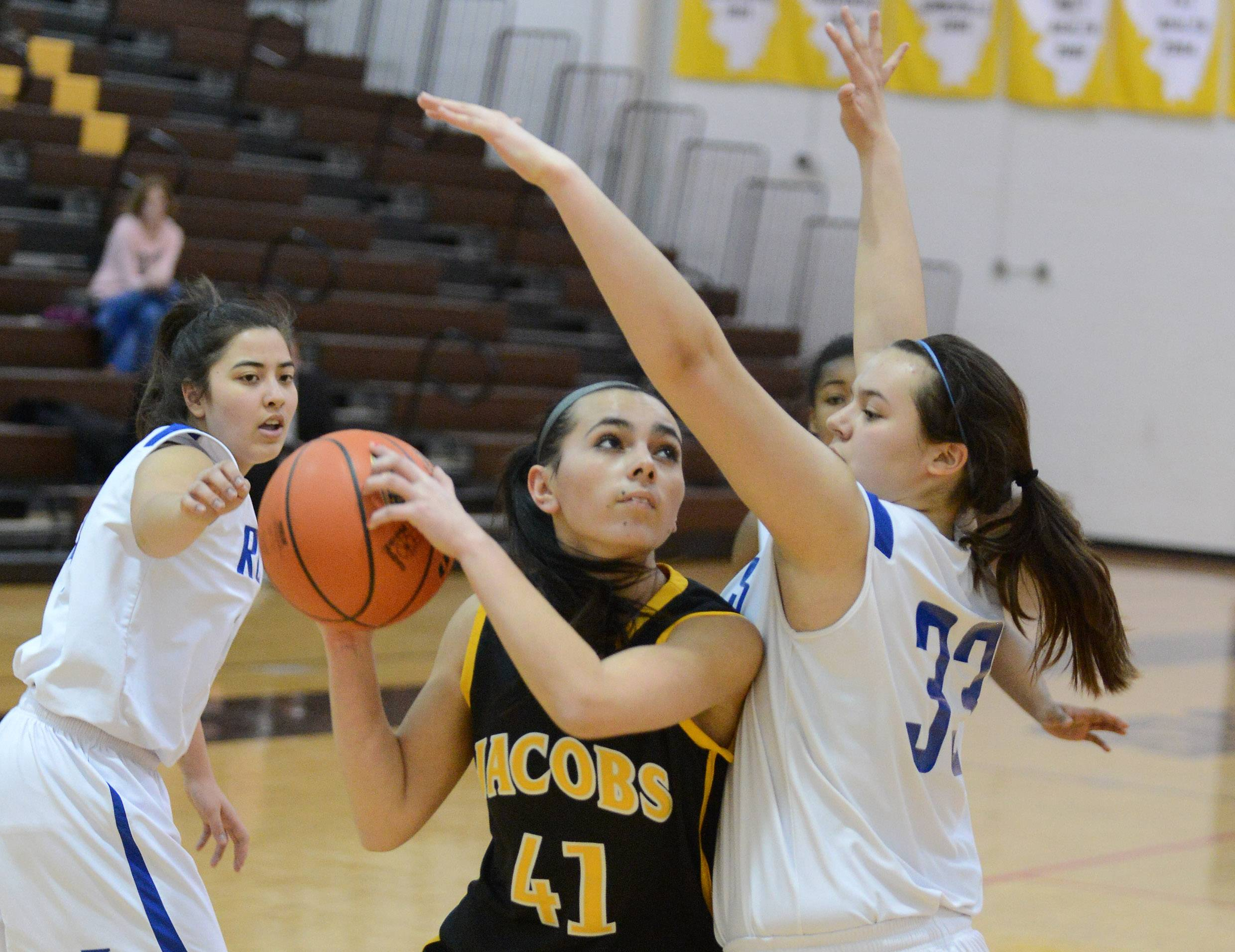 Images from the Larkin vs. Jacobs girls regional basketball game Monday, February 17, 2014 in Algonquin.