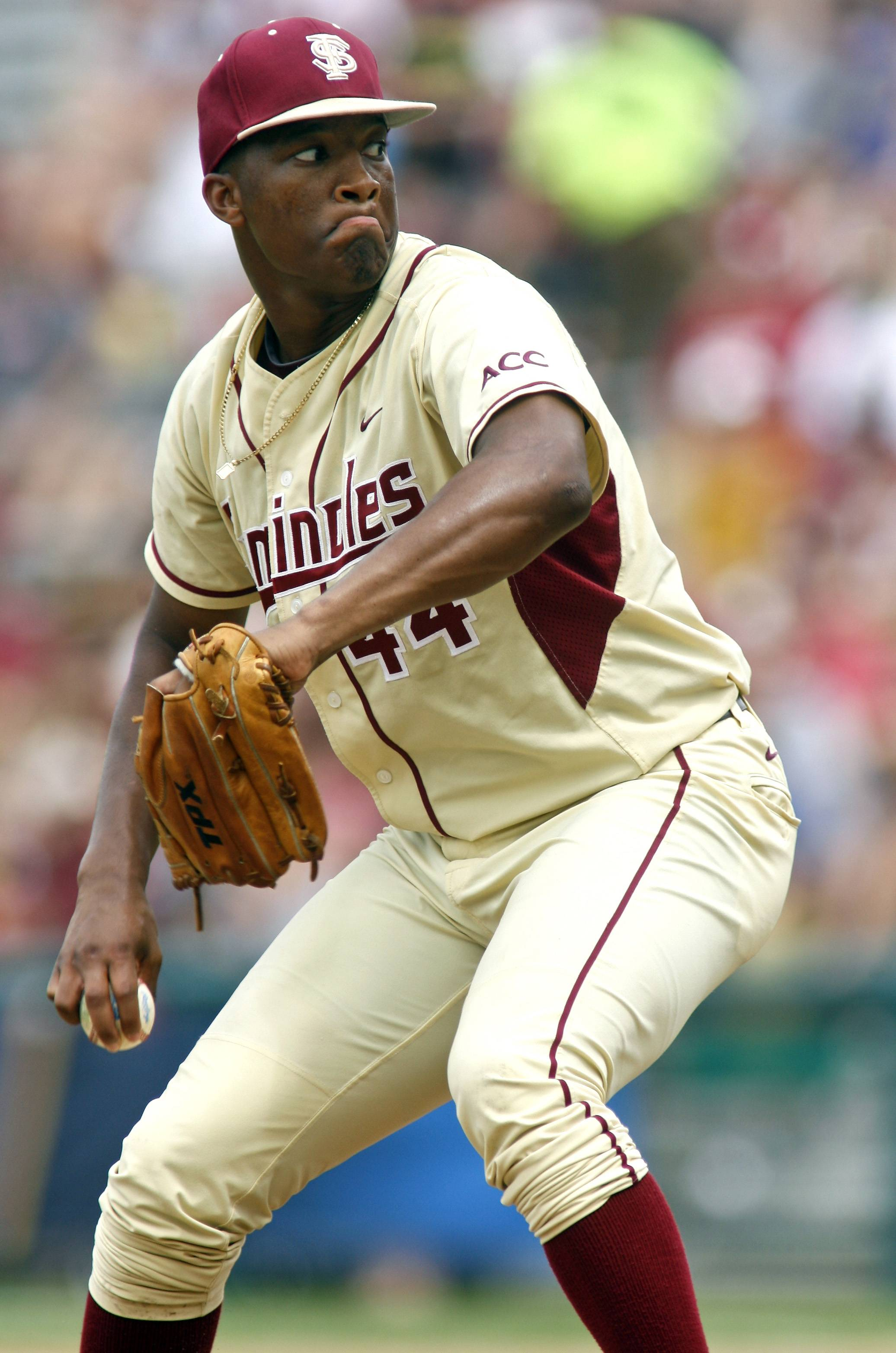 Florida State relief pitcher Jameis Winston is the sixth Heisman winner to play college baseball after winning the award and the first since Bo Jackson in 1986.