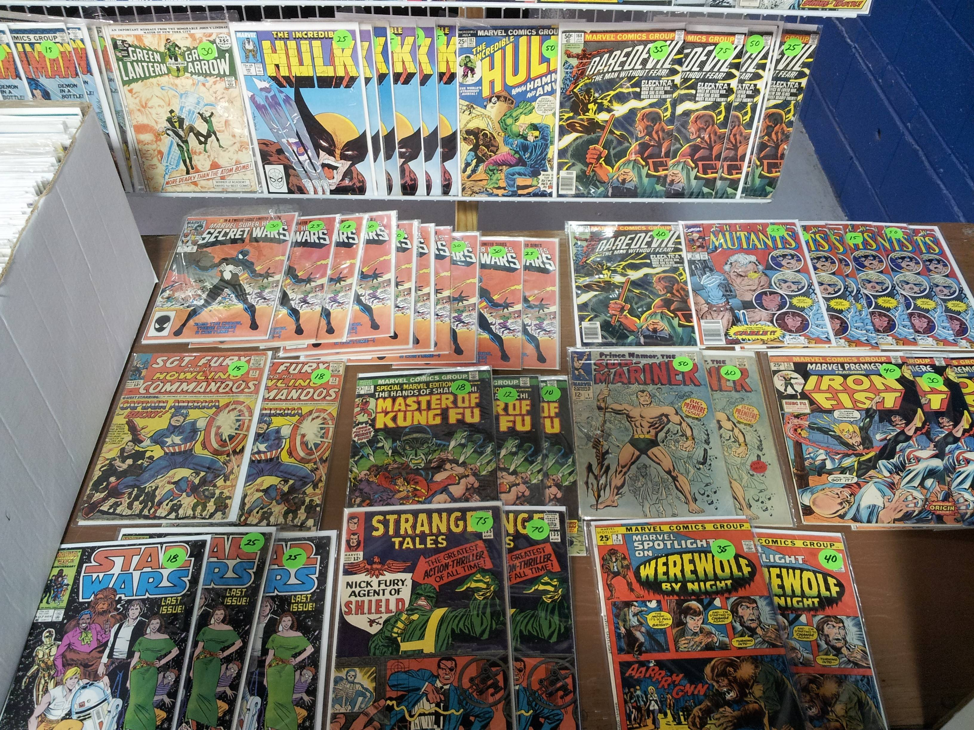 Comic books and other comic-related items are featured at the Mighty Con Comic Show at the DuPage County Fairgrounds.