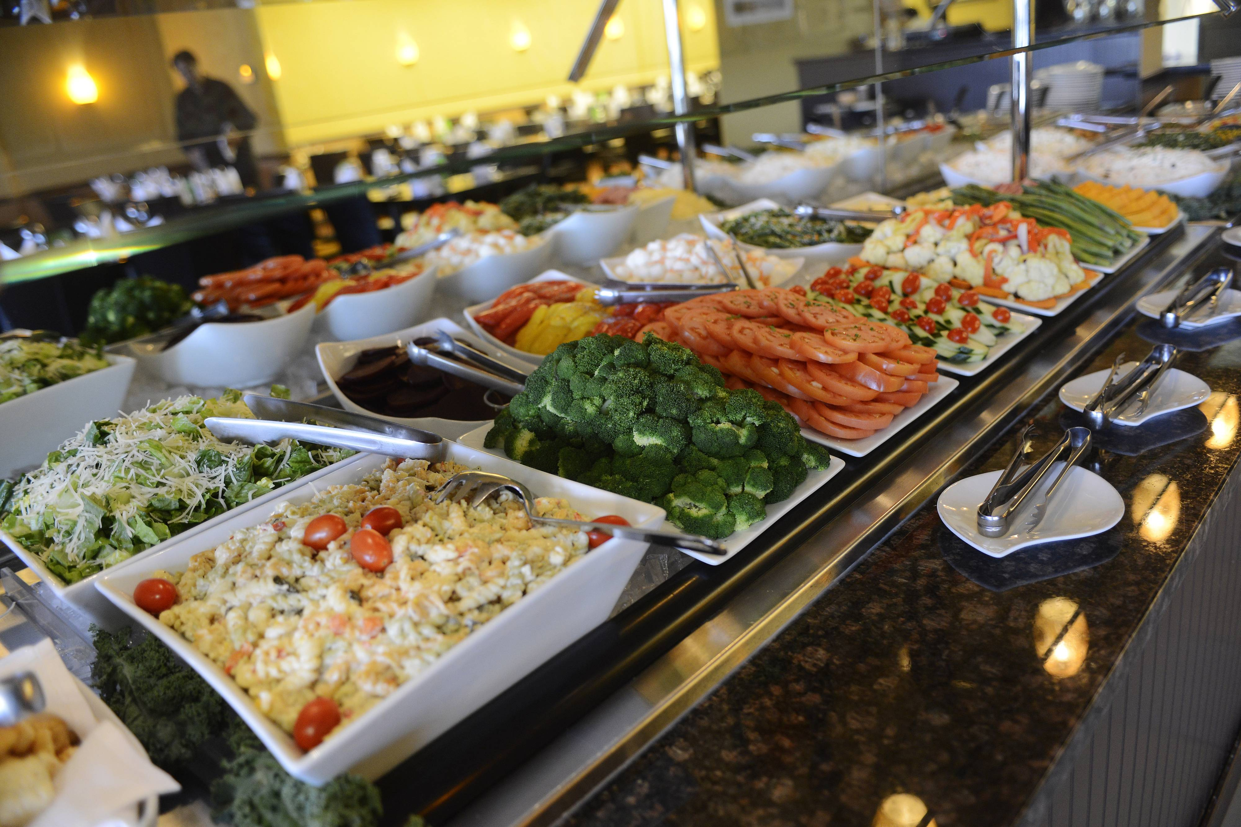 The all-you-can-eat salad bar at Brazil Express welcomes diners during Chicago Northwest Restaurant Week.