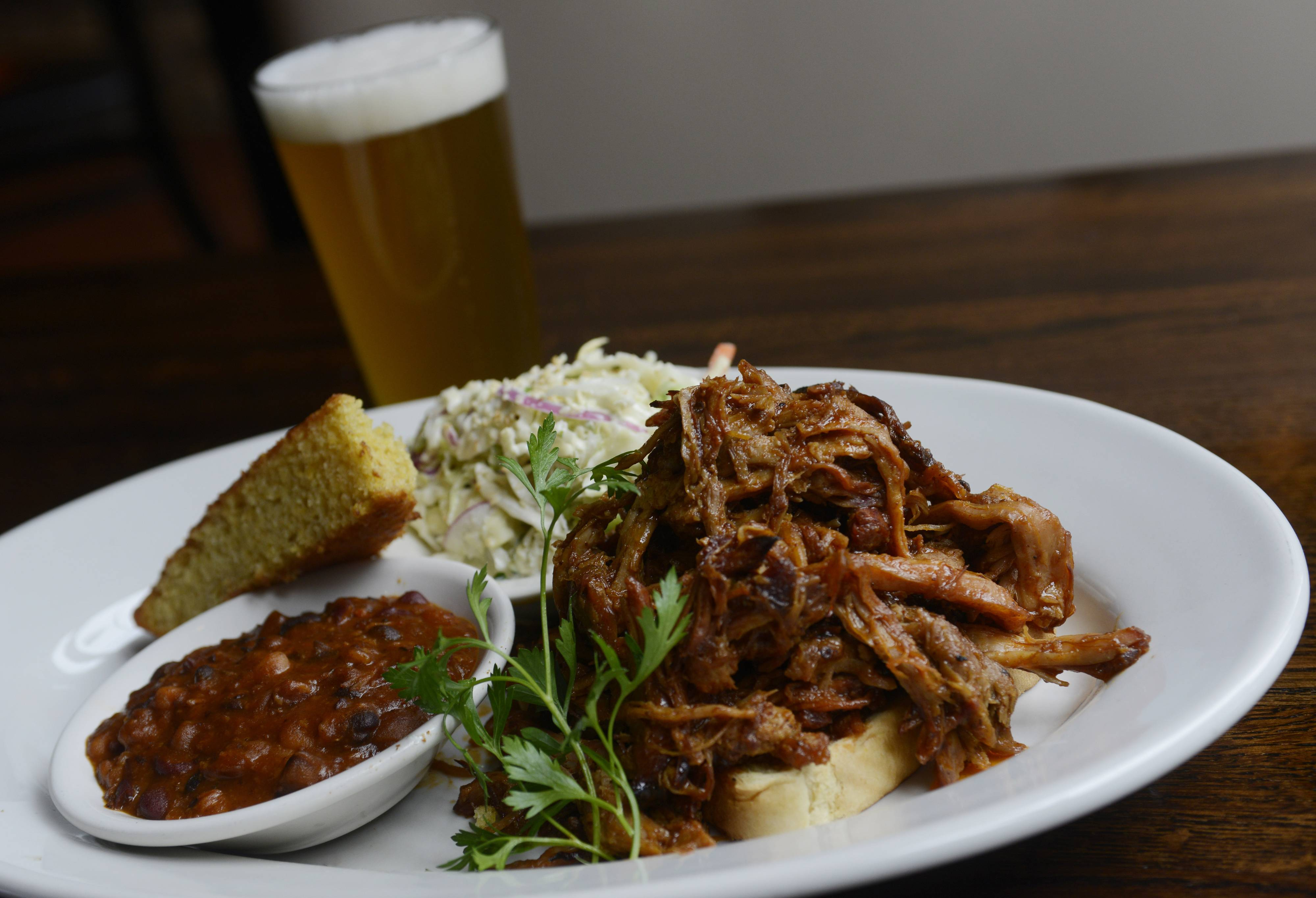 Carolina pork is available on the prix fixe lunch menu at Rack House Kitchen and Tavern in Arlington Heights.