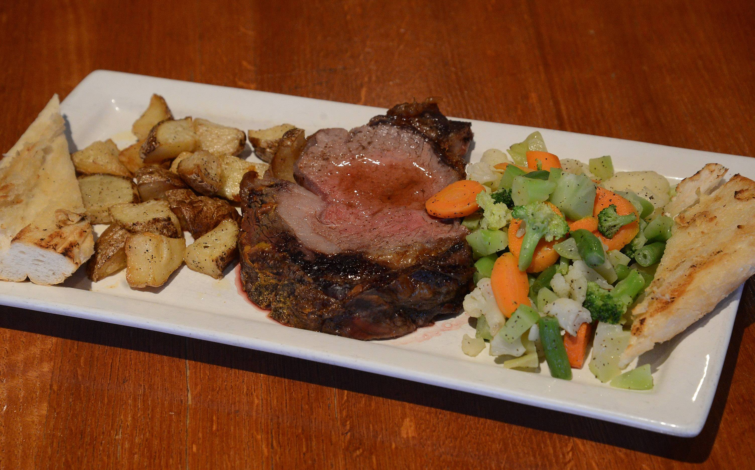 Sample the prime rib at Real Time Sports in Elk Grove Village.