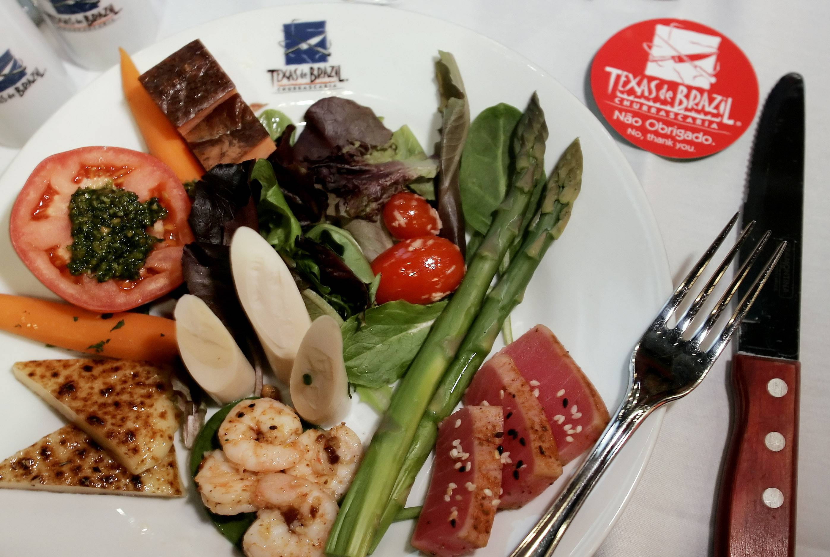 Selections from the immense salad bar at the Texas de Brazil at Woodfield Mall are included on the restaurant's specially priced Restaurant Week menu.
