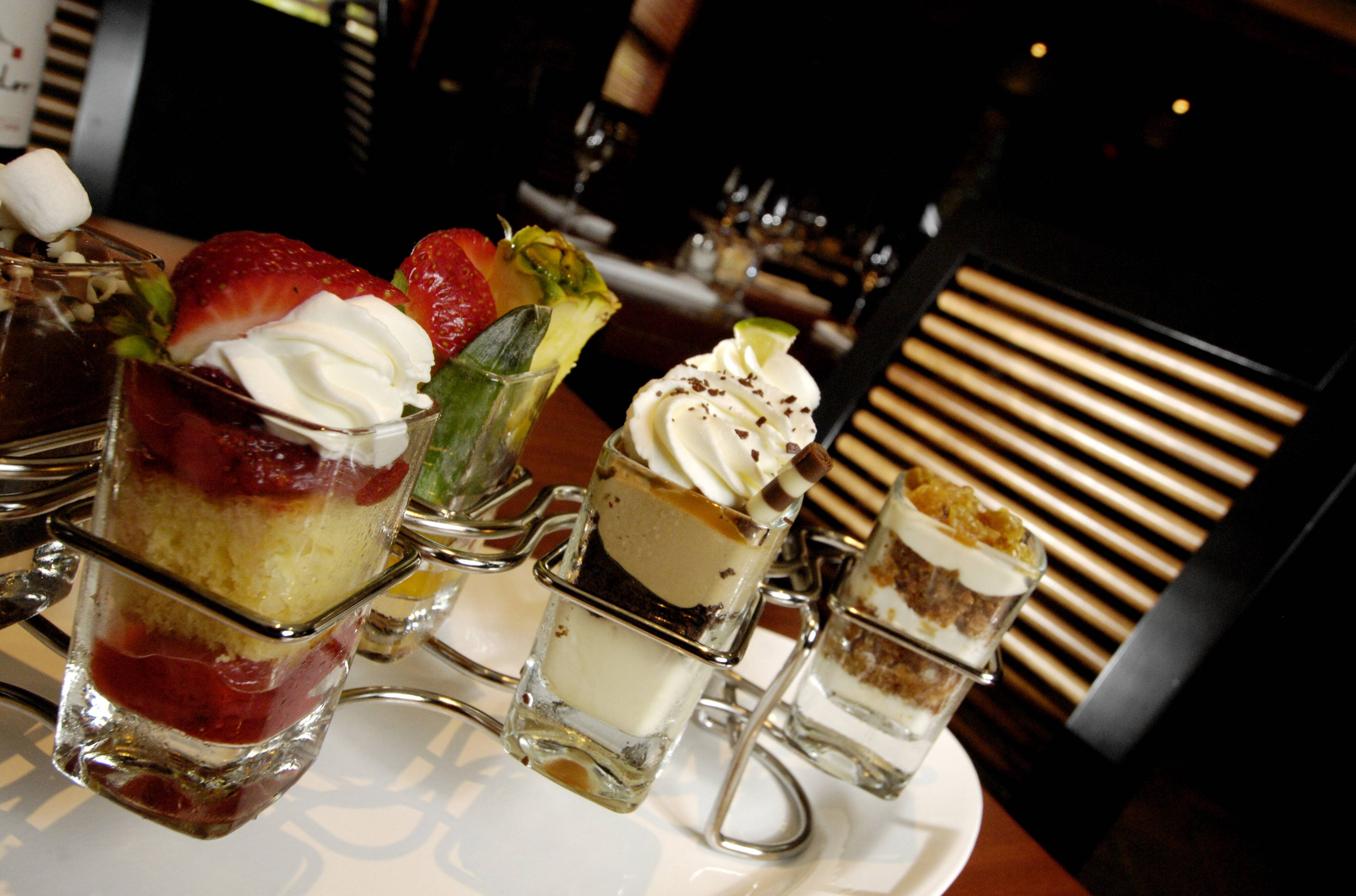 Seasons 52's mini indulgence desserts are available at lunch or dinner during Chicago Northwest Restaurant Week.