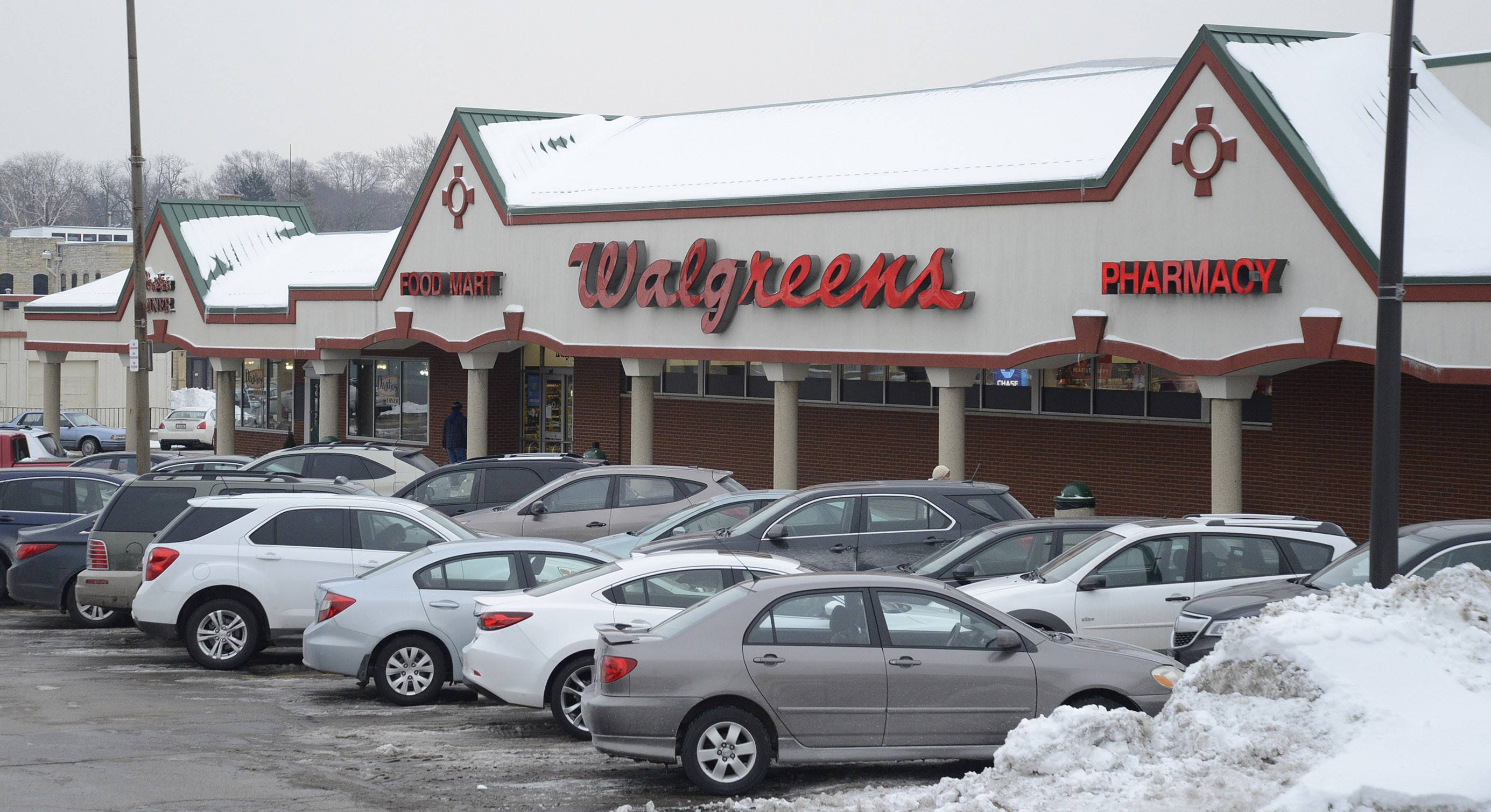 Walgreens in the Batavia Plaza on Wilson Street in downtown Batavia. The city council Monday gave permission for a new store to be built slightly to the east of the shopping center and agreed to help pay for the cost of building it.