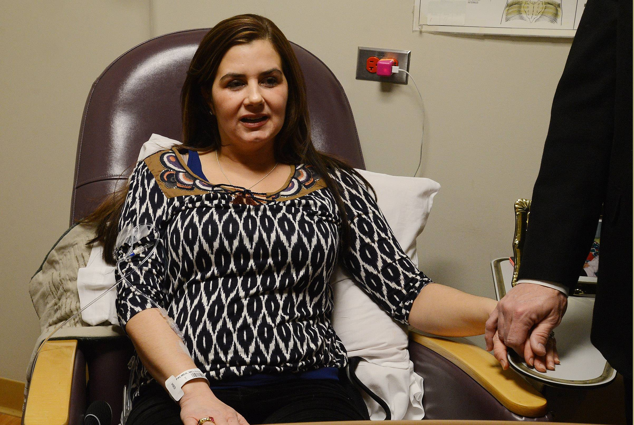 Melissa Palmer battles the rare Pompe disease with an experimental infusion treatment. Thanks to the effort of her longtime family physician, Dr. Richard McDonough, she's been able to receive the treatment closer to home at Advocate Good Shepherd Hospital in Lake Barrington.