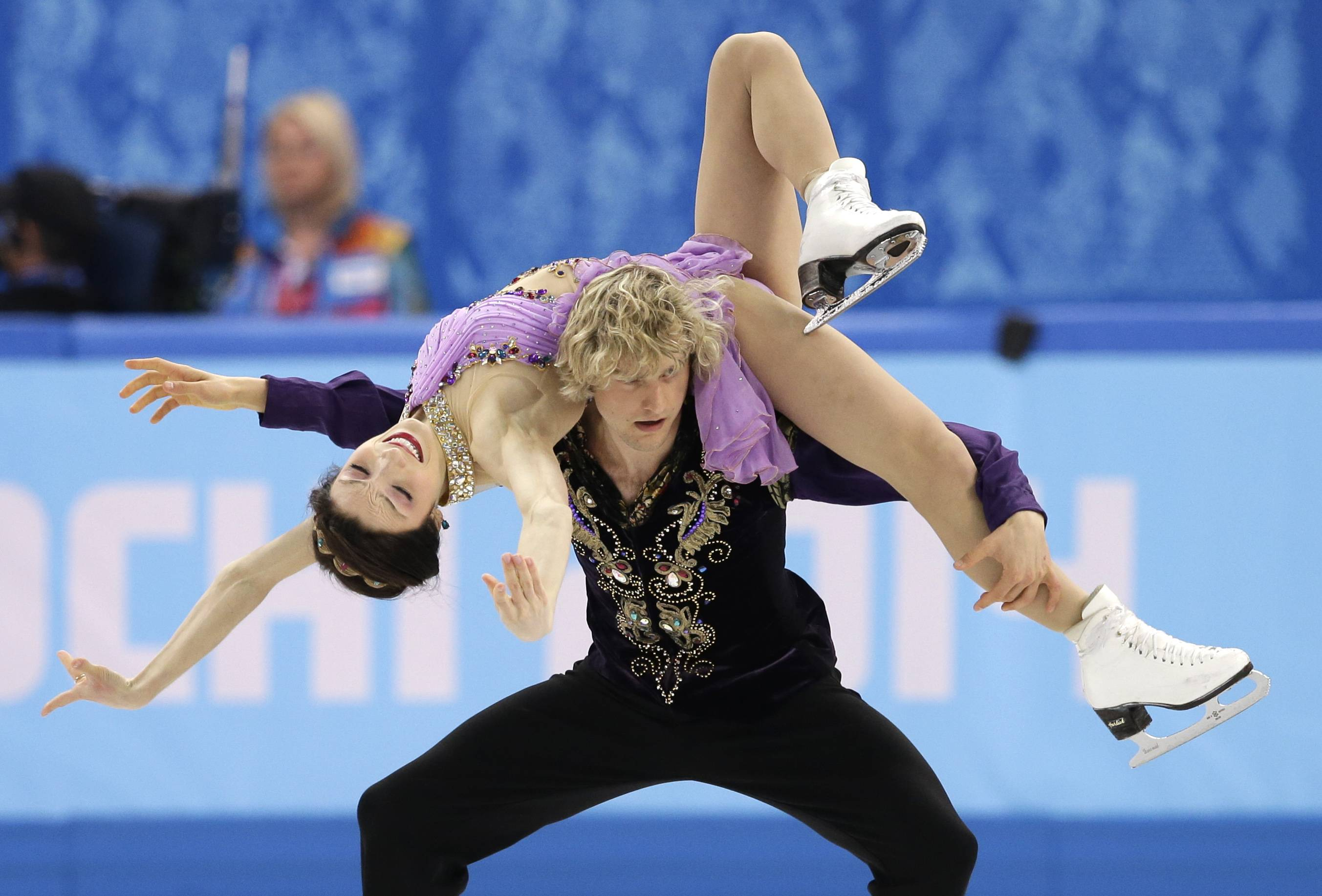 Meryl Davis and Charlie White of the United States compete in the ice dance free dance figure skating finals at the Iceberg Skating Palace during the 2014 Winter Olympics, Monday, Feb. 17, 2014, in Sochi, Russia.