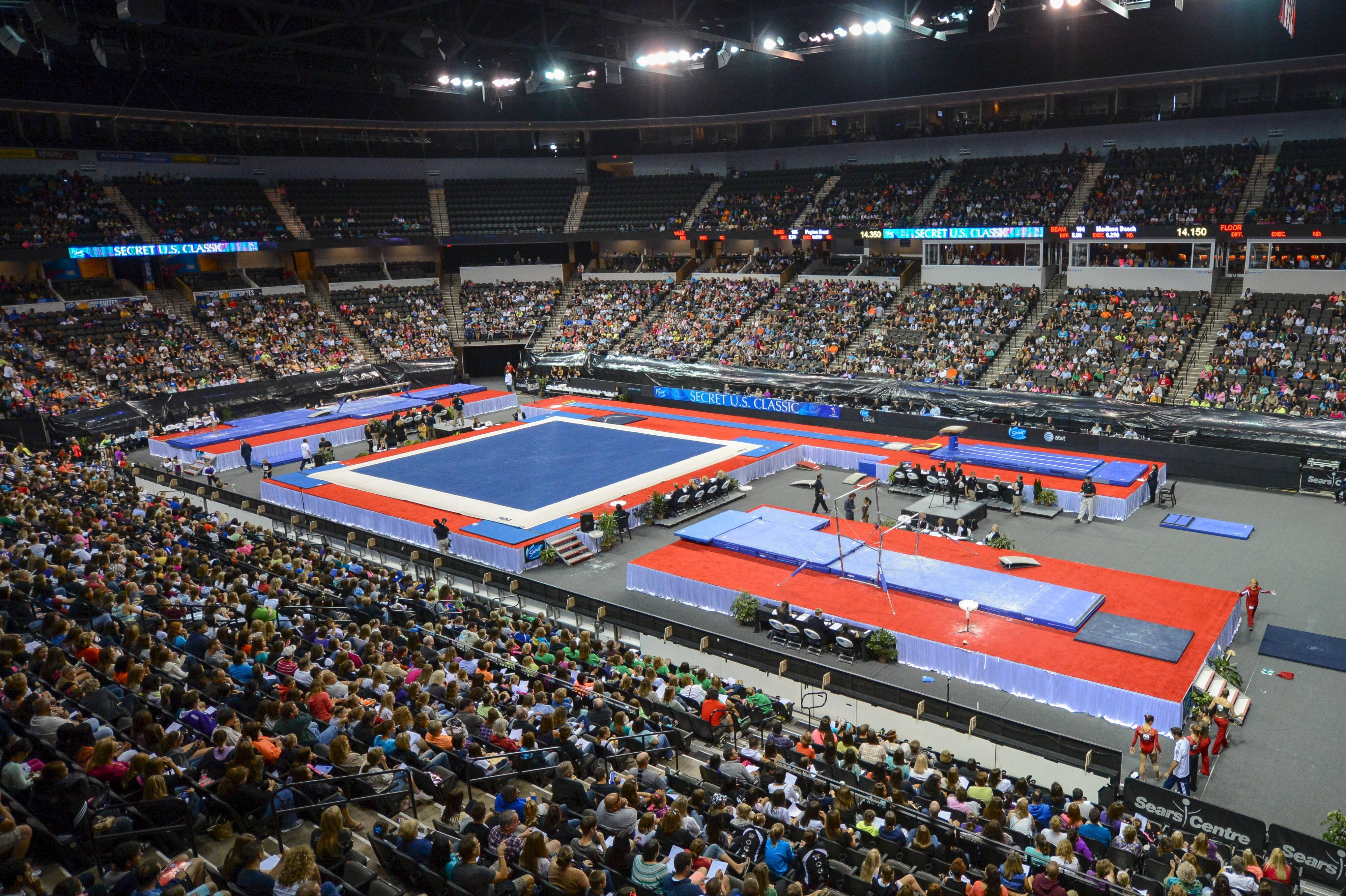 The Sears Centre Arena in Hoffman Estates will again host the Secret U.S. Classic gymnastics competition this year. Last year's event, the first held at the Sears Centre, was a big success, according to officials at USA Gymnastics.