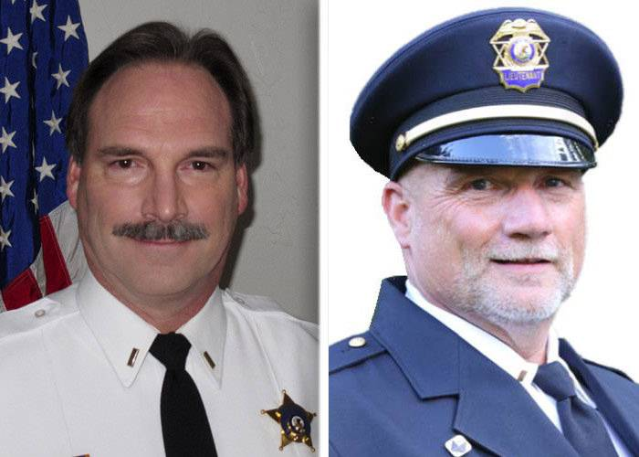 Don Kramer, left, and Kevin Williams are candidates in the race for Kane County sheriff.