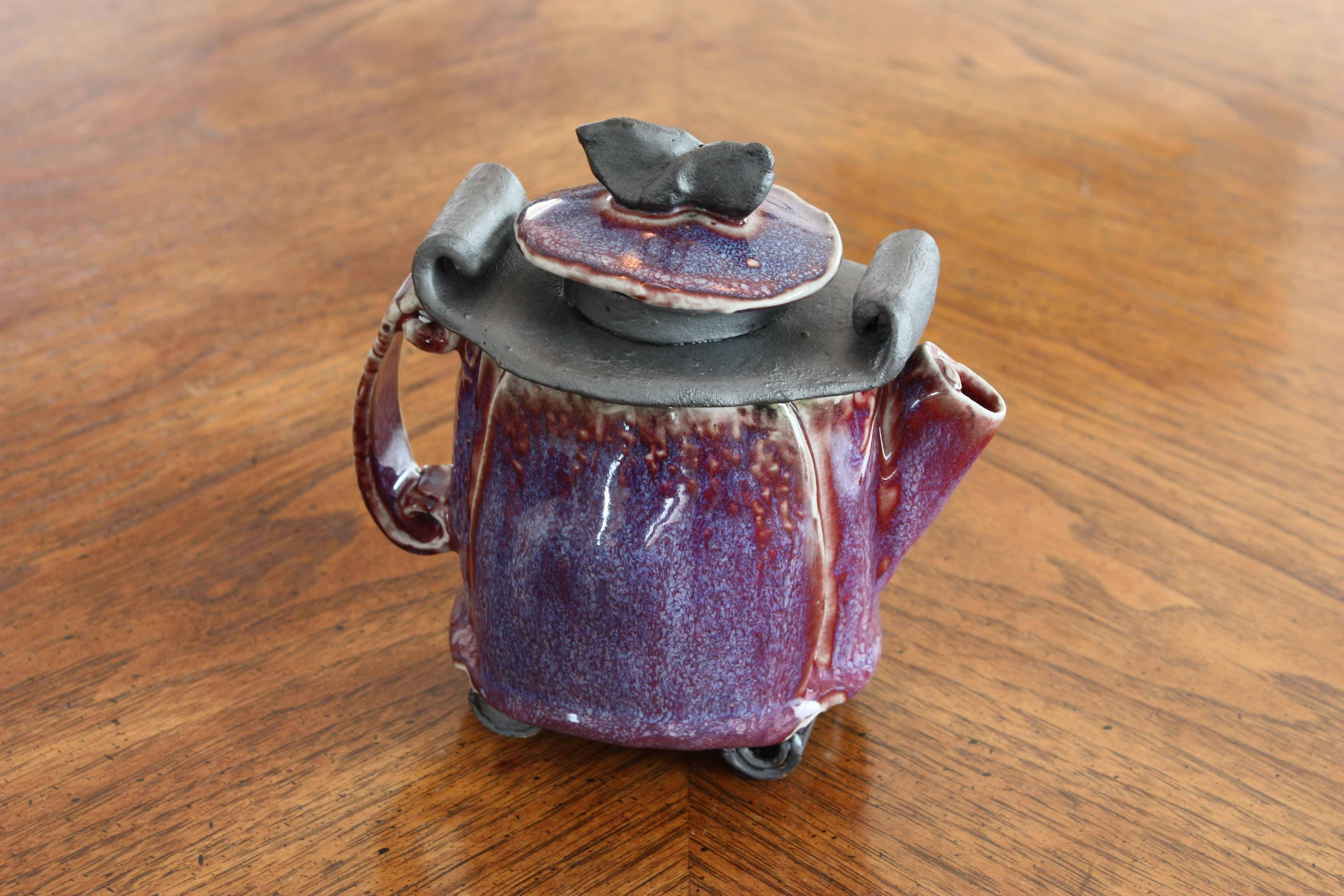 Pottery can be functional as well as beautiful, as shown in this piece by Phyllis Pischl.