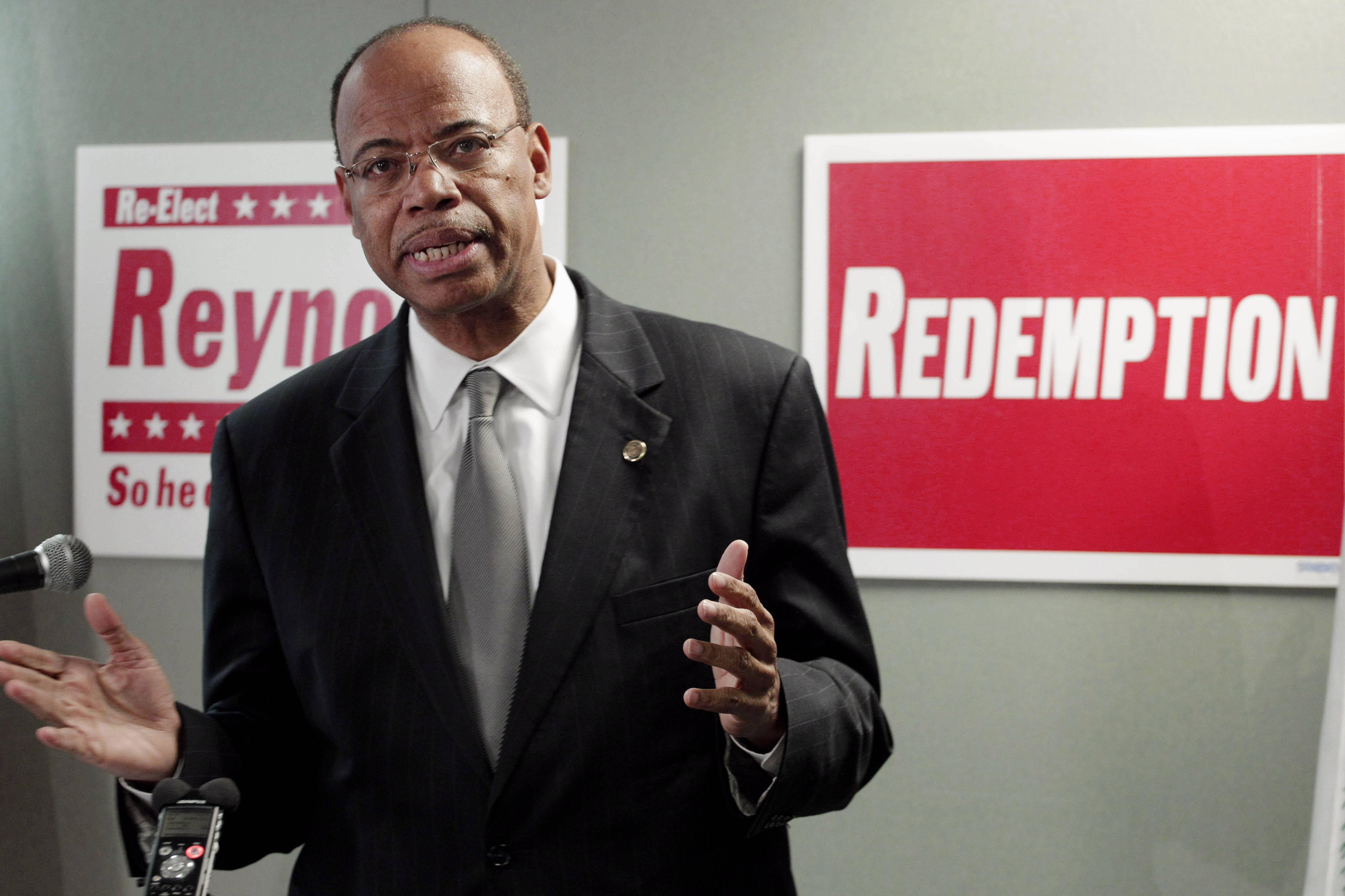 A Zimbabwean immigration official said Tuesday that former U.S. Rep. Mel Reynolds had been arrested Monday for possessing pornographic material and violating immigration laws.