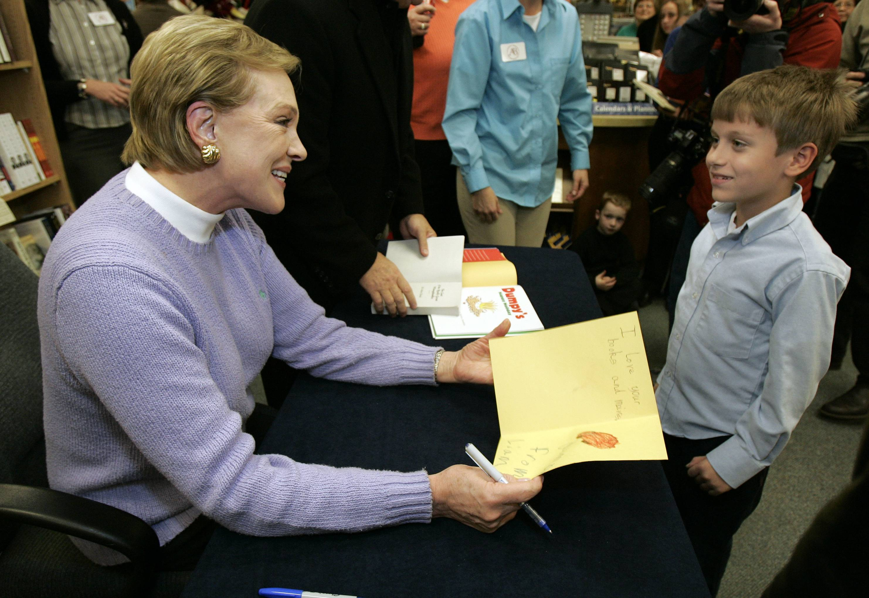 "Actress and author Julie Andrews ""is incredibly generous to her fans and readers,"" Becky Anderson says."