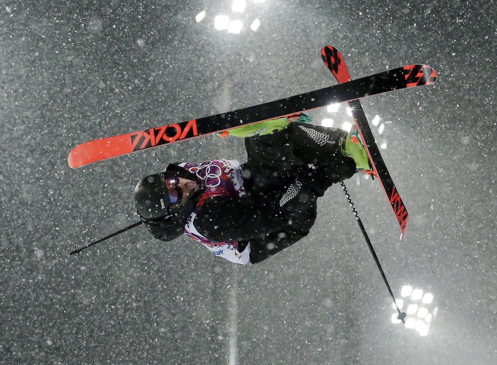 New Zealand's Lyndon Sheehan gets air during the men's ski halfpipe final.